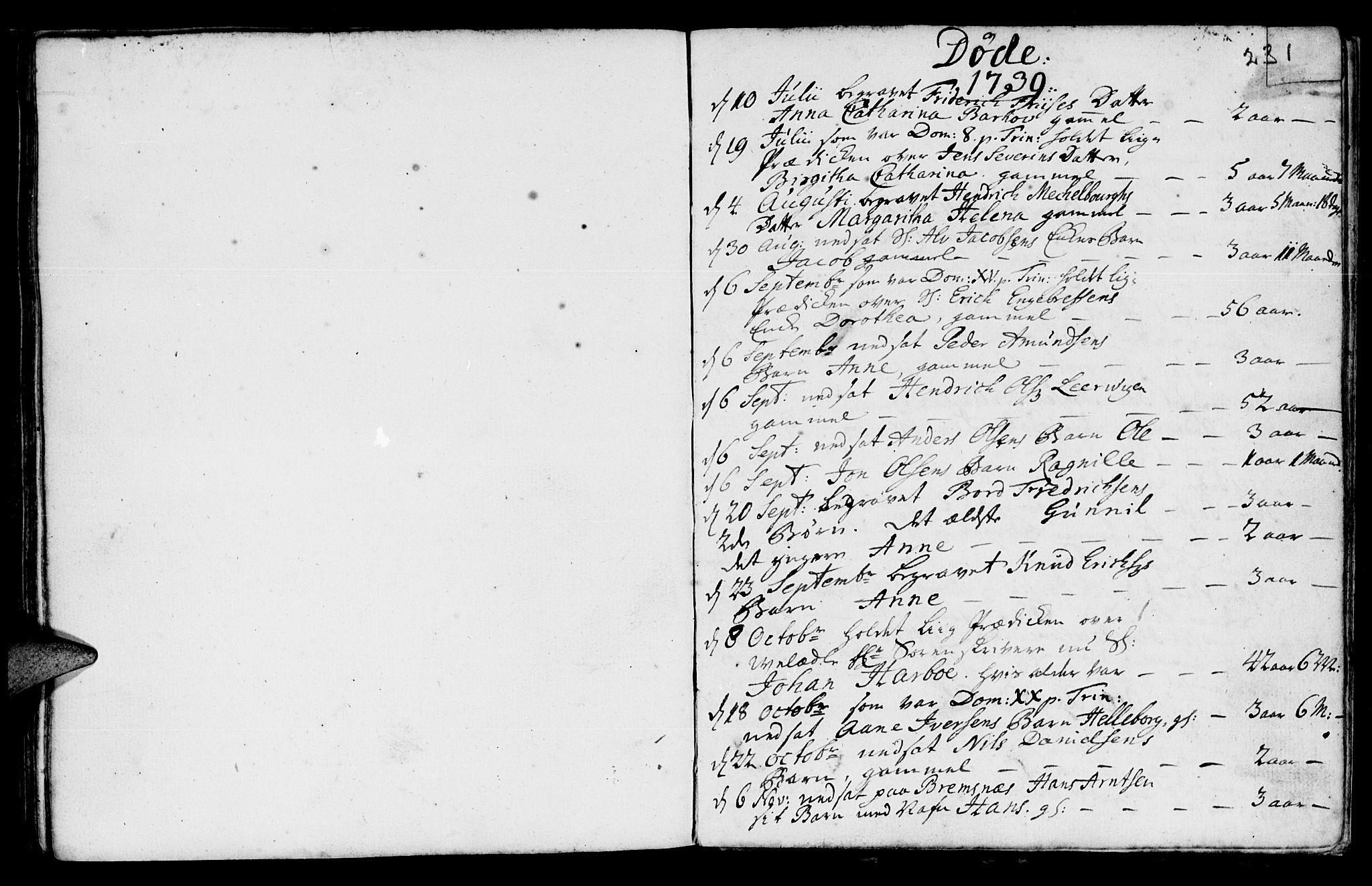 SAT, Ministerialprotokoller, klokkerbøker og fødselsregistre - Møre og Romsdal, 572/L0839: Parish register (official) no. 572A02, 1739-1754, p. 230-231