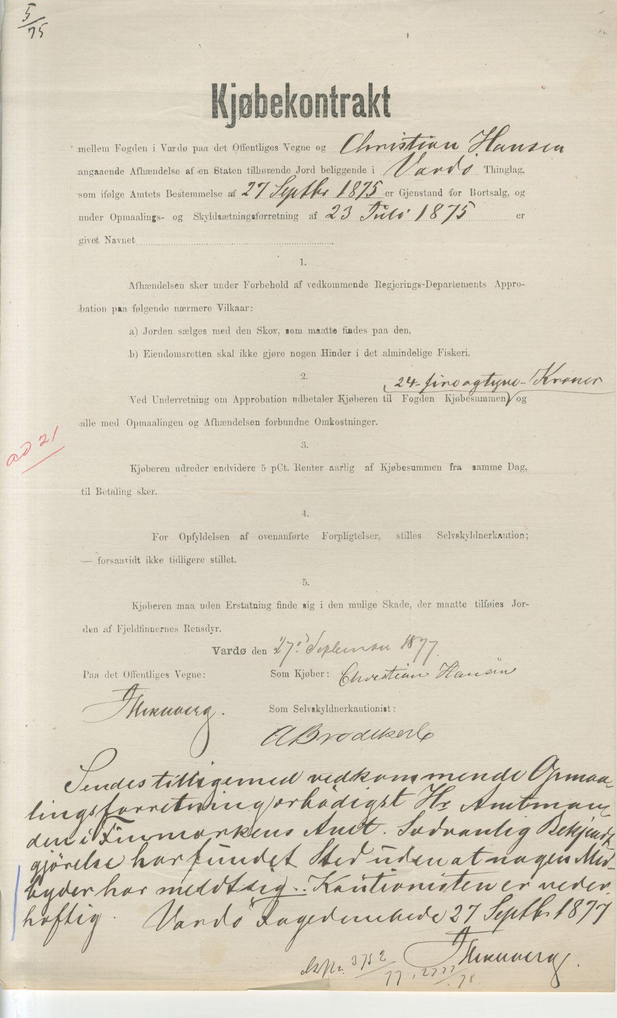VAMU, Brodtkorb handel A/S, Q/Qb/L0003: Faste eiendommer i Vardø Herred, 1862-1939, p. 47