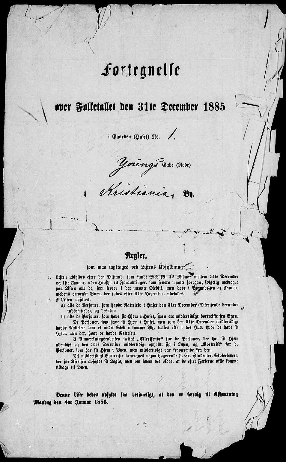 RA, 1885 census for 0301 Kristiania, 1885, p. 5557