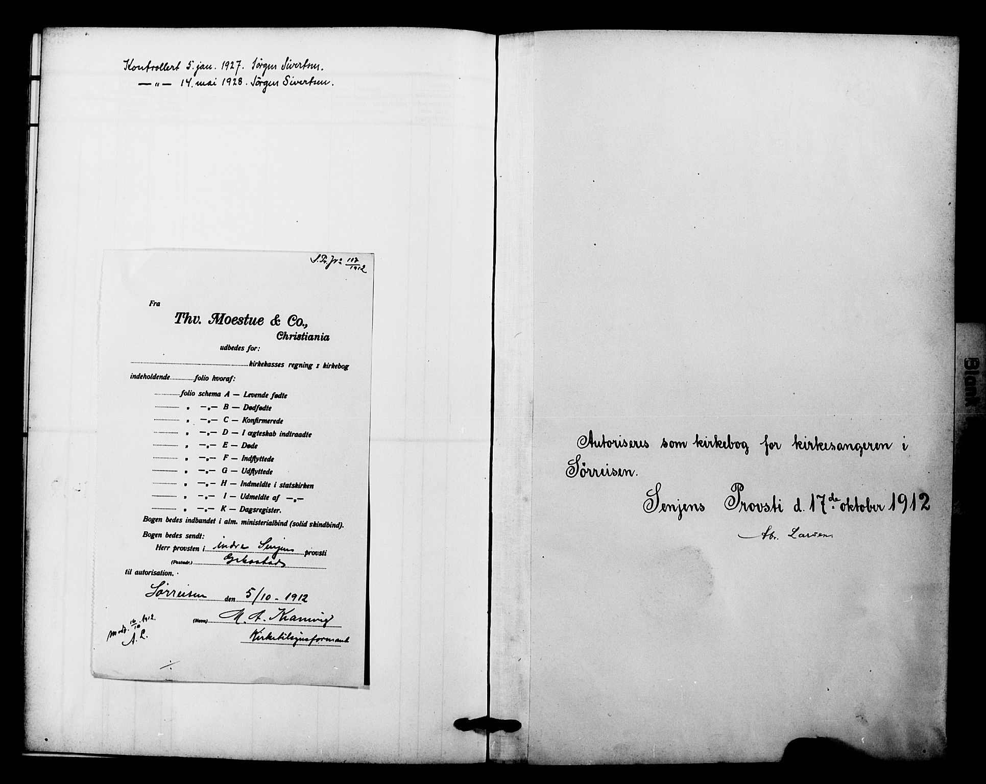 SATØ, Tranøy sokneprestkontor, I/Ia/Iab/L0023klokker: Parish register (copy) no. 23, 1913-1928