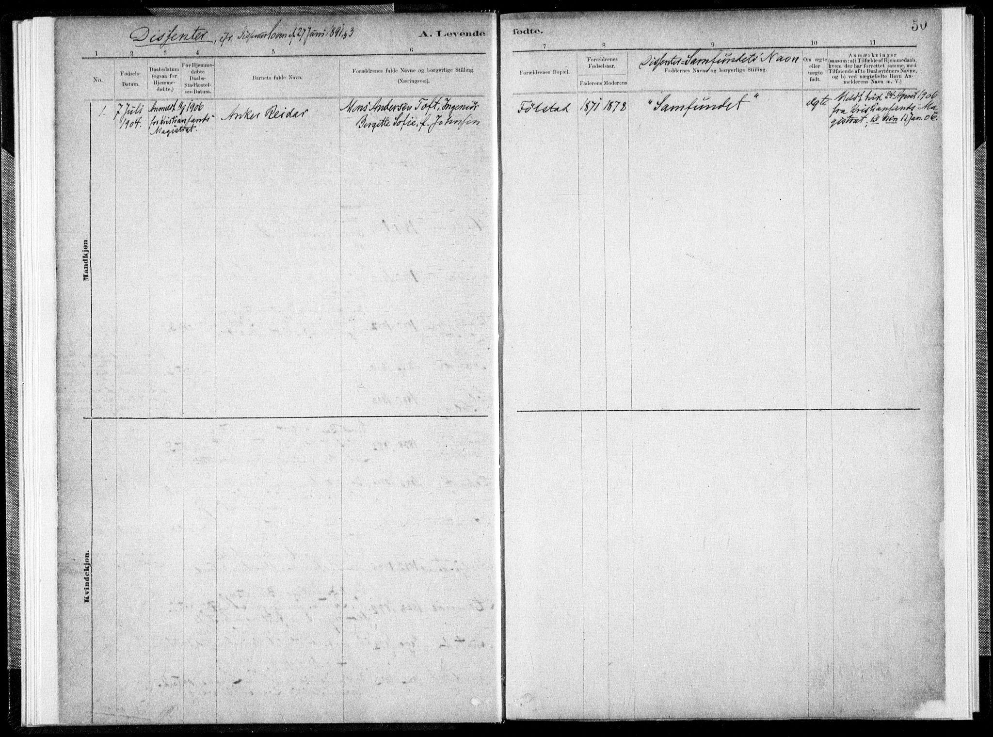 SAT, Ministerialprotokoller, klokkerbøker og fødselsregistre - Nord-Trøndelag, 731/L0309: Parish register (official) no. 731A01, 1879-1918, p. 50