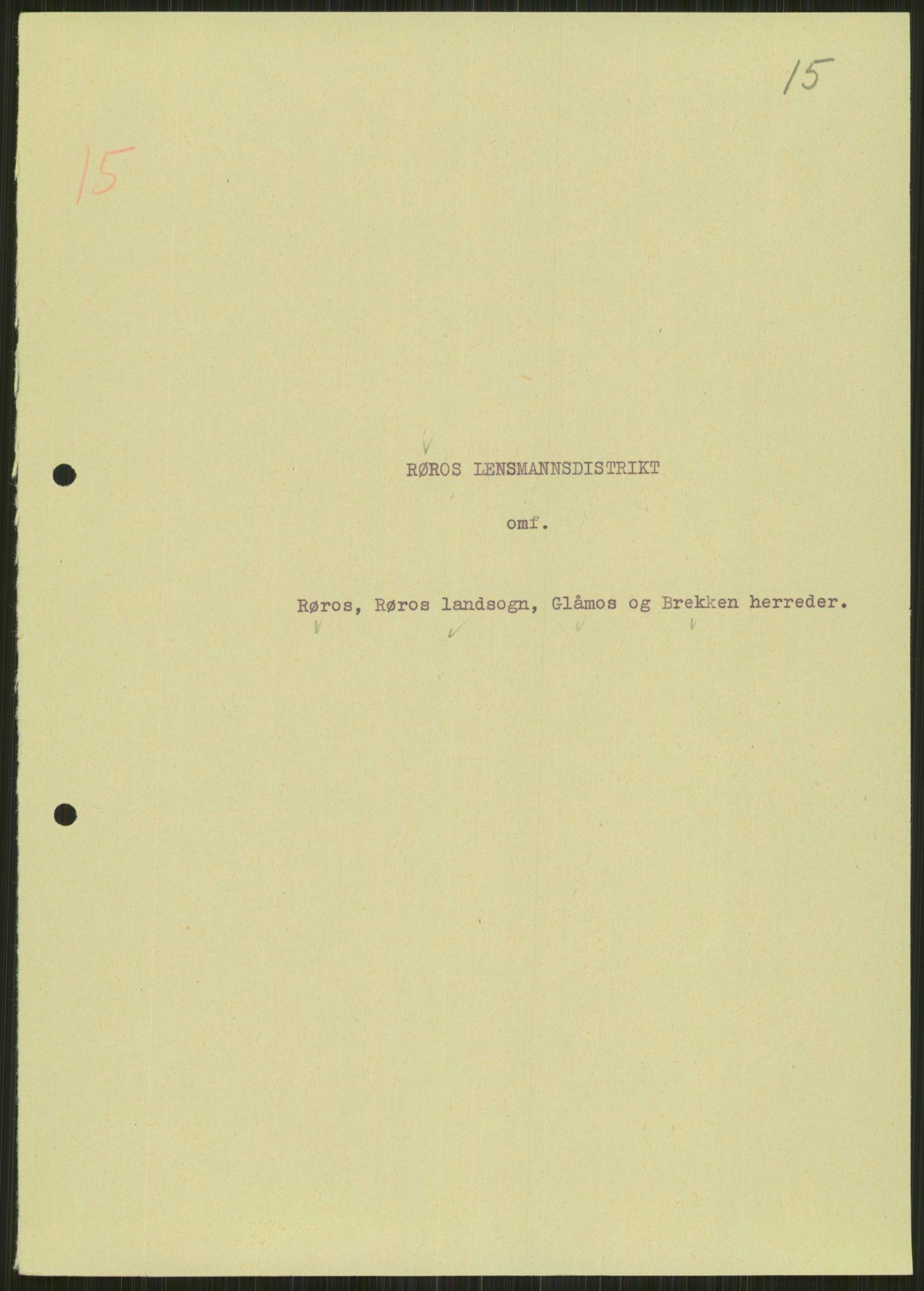 RA, Forsvaret, Forsvarets krigshistoriske avdeling, Y/Ya/L0016: II-C-11-31 - Fylkesmenn.  Rapporter om krigsbegivenhetene 1940., 1940, p. 101
