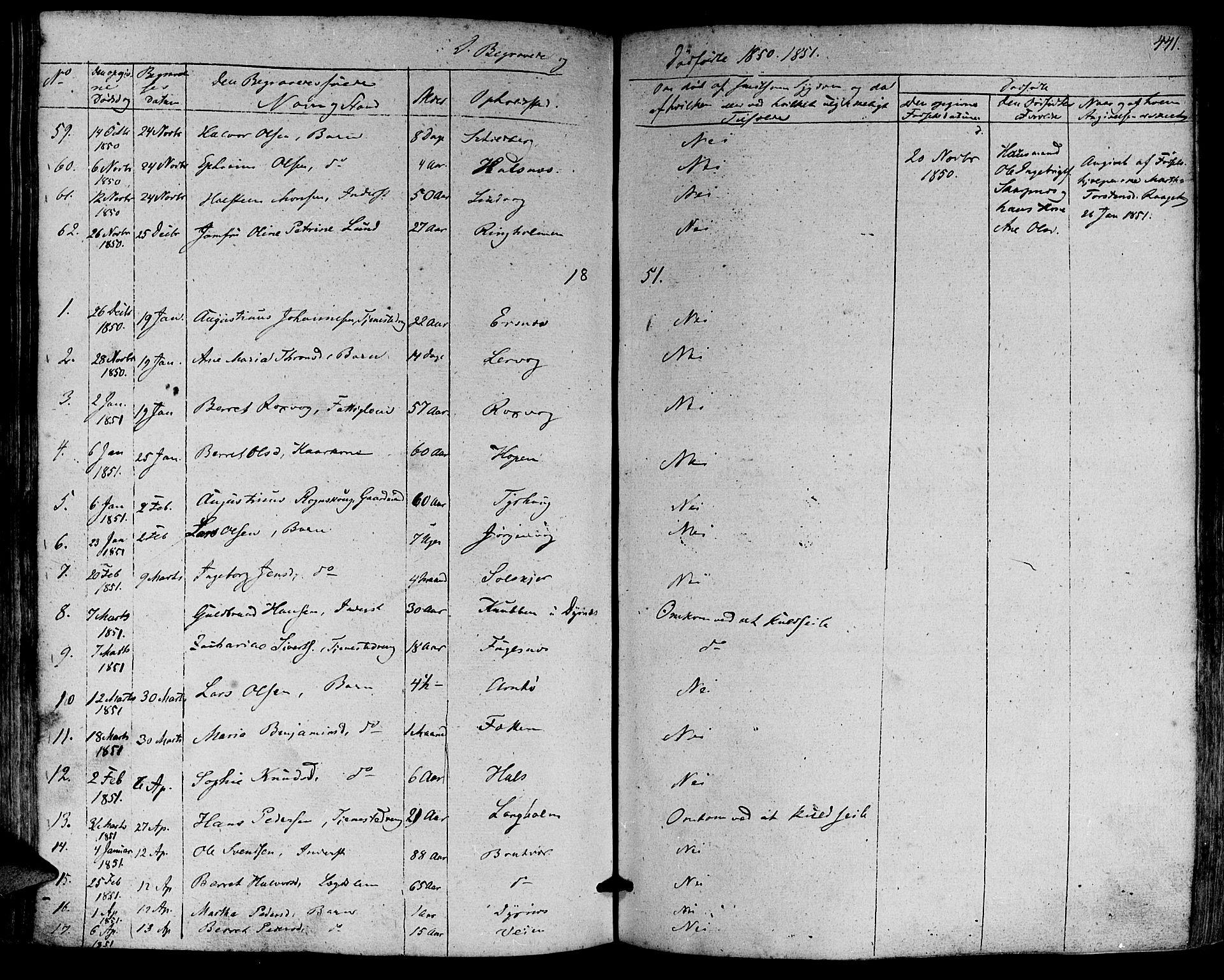 SAT, Ministerialprotokoller, klokkerbøker og fødselsregistre - Møre og Romsdal, 581/L0936: Parish register (official) no. 581A04, 1836-1852, p. 441