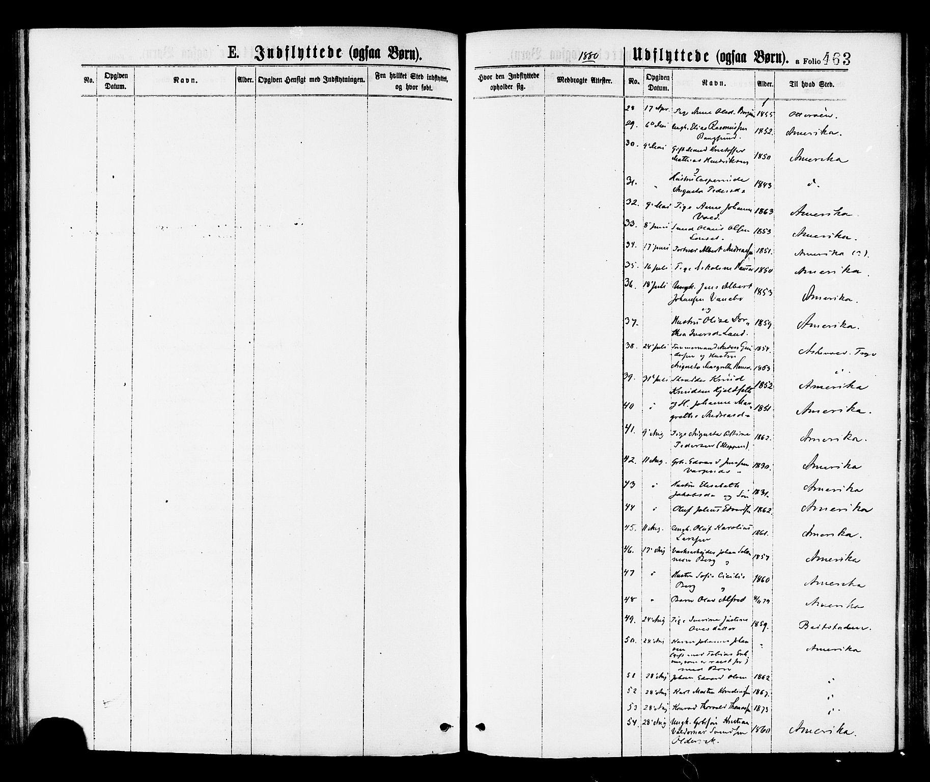 SAT, Ministerialprotokoller, klokkerbøker og fødselsregistre - Nord-Trøndelag, 768/L0572: Parish register (official) no. 768A07, 1874-1886, p. 463
