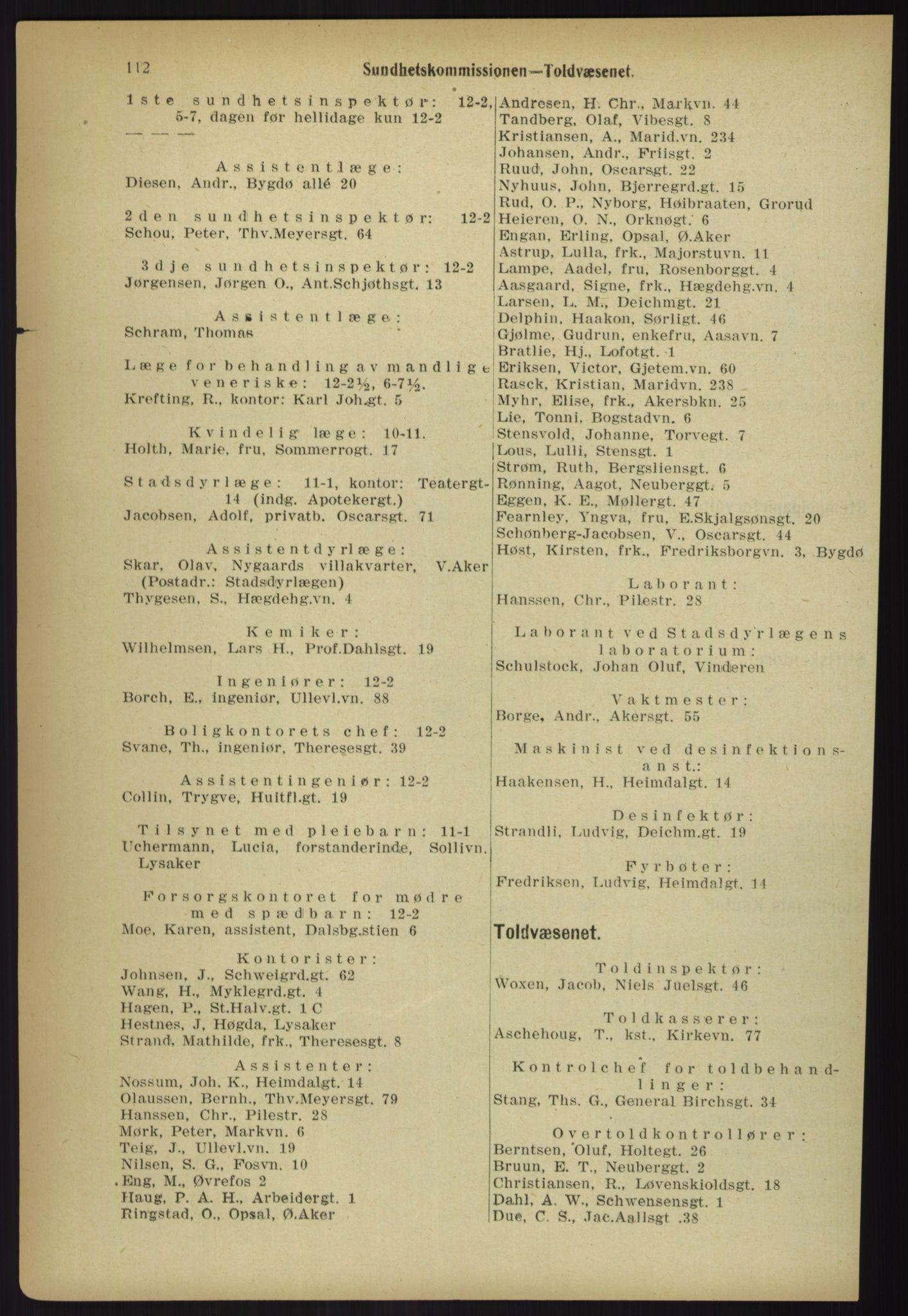 PUBL, Kristiania/Oslo adressebok, 1918, p. 119