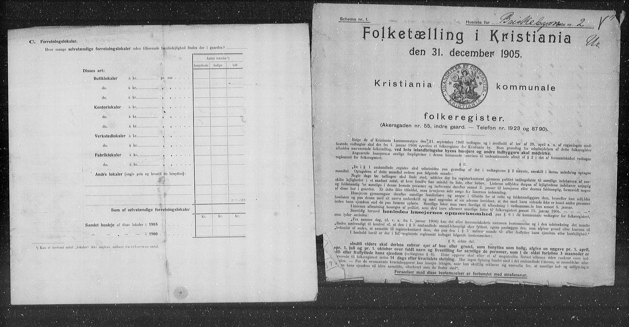 OBA, Municipal Census 1905 for Kristiania, 1905, p. 4589
