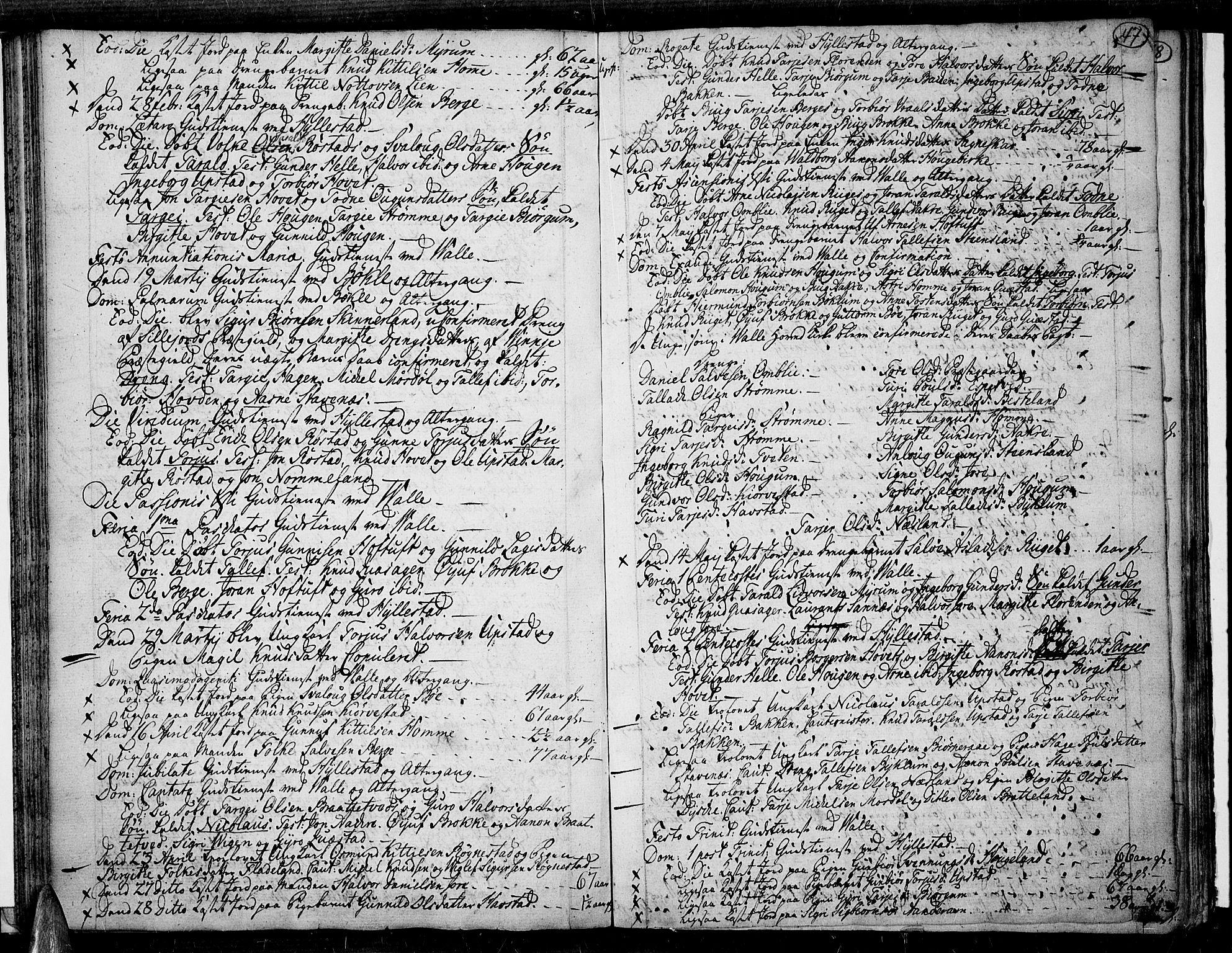 SAK, Valle sokneprestkontor, F/Fa/Fac/L0003: Parish register (official) no. A 3, 1776-1790, p. 47