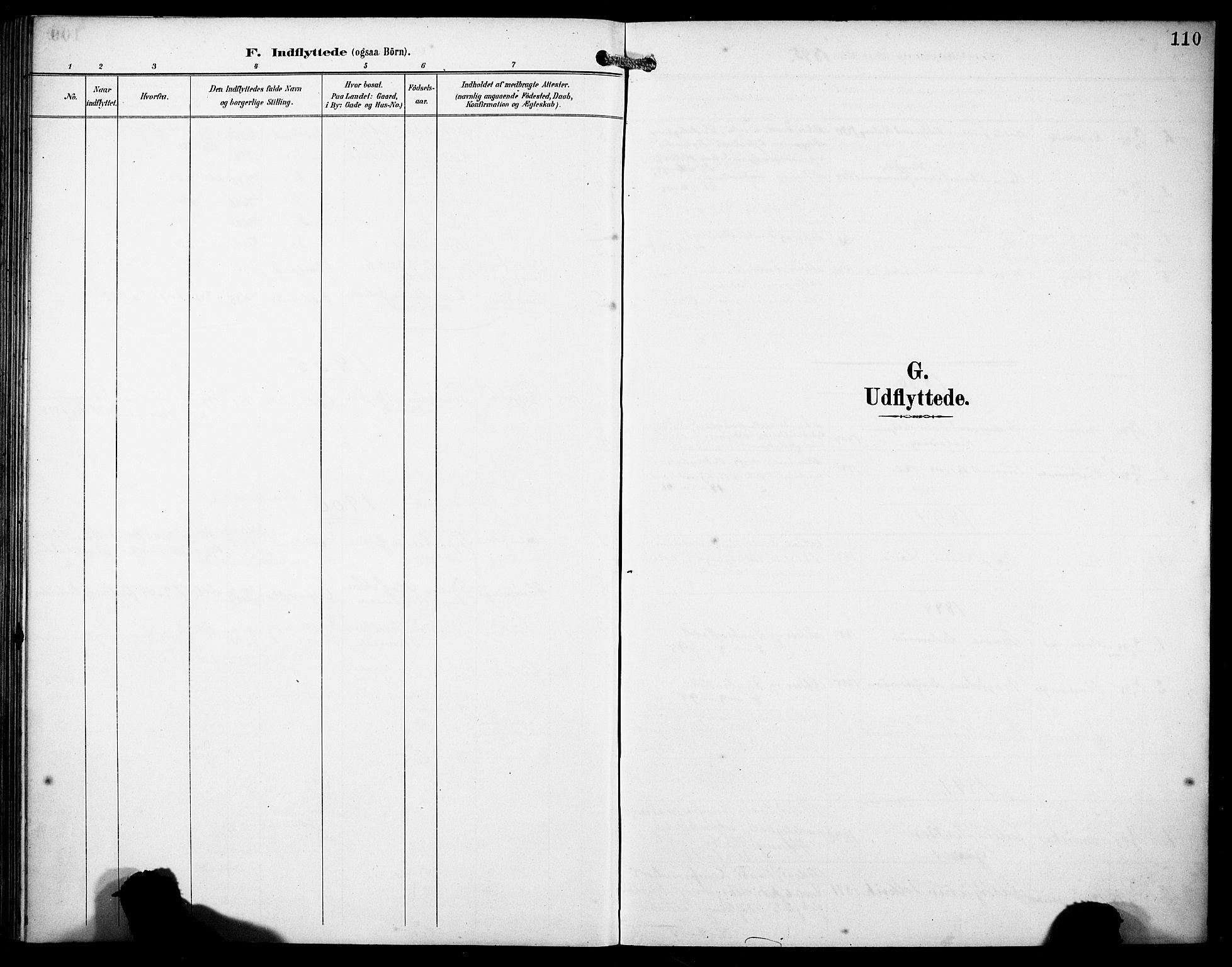 SAB, Finnås sokneprestembete, H/Ha/Haa/Haad/L0002: Parish register (official) no. D 2, 1895-1906, p. 110