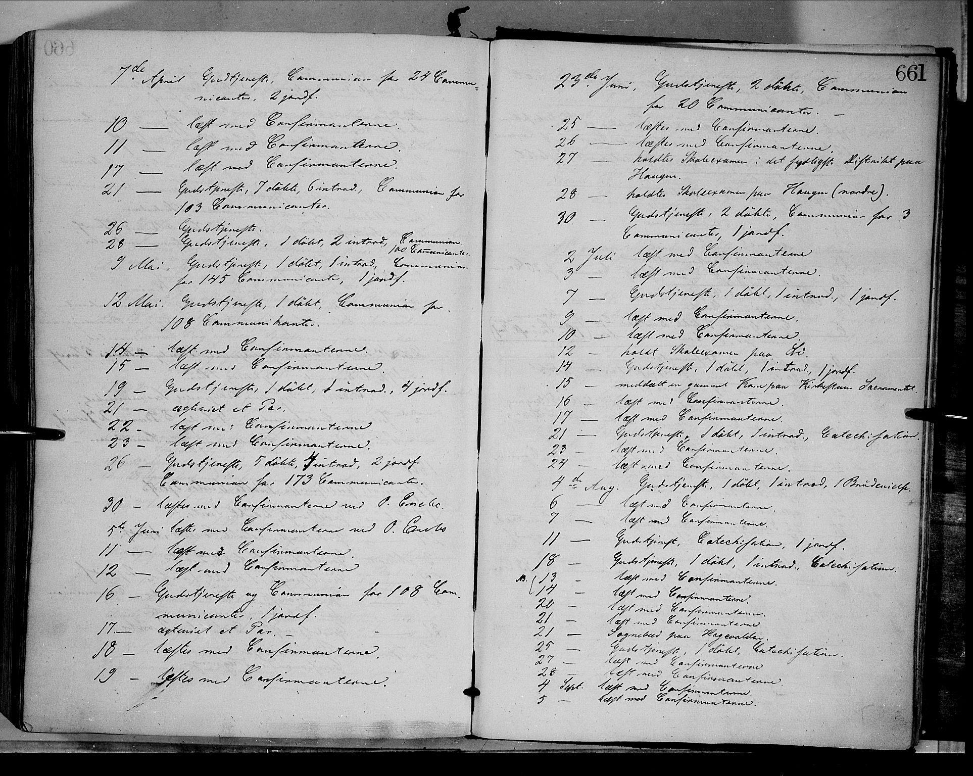 SAH, Dovre prestekontor, Parish register (official) no. 1, 1854-1878, p. 661
