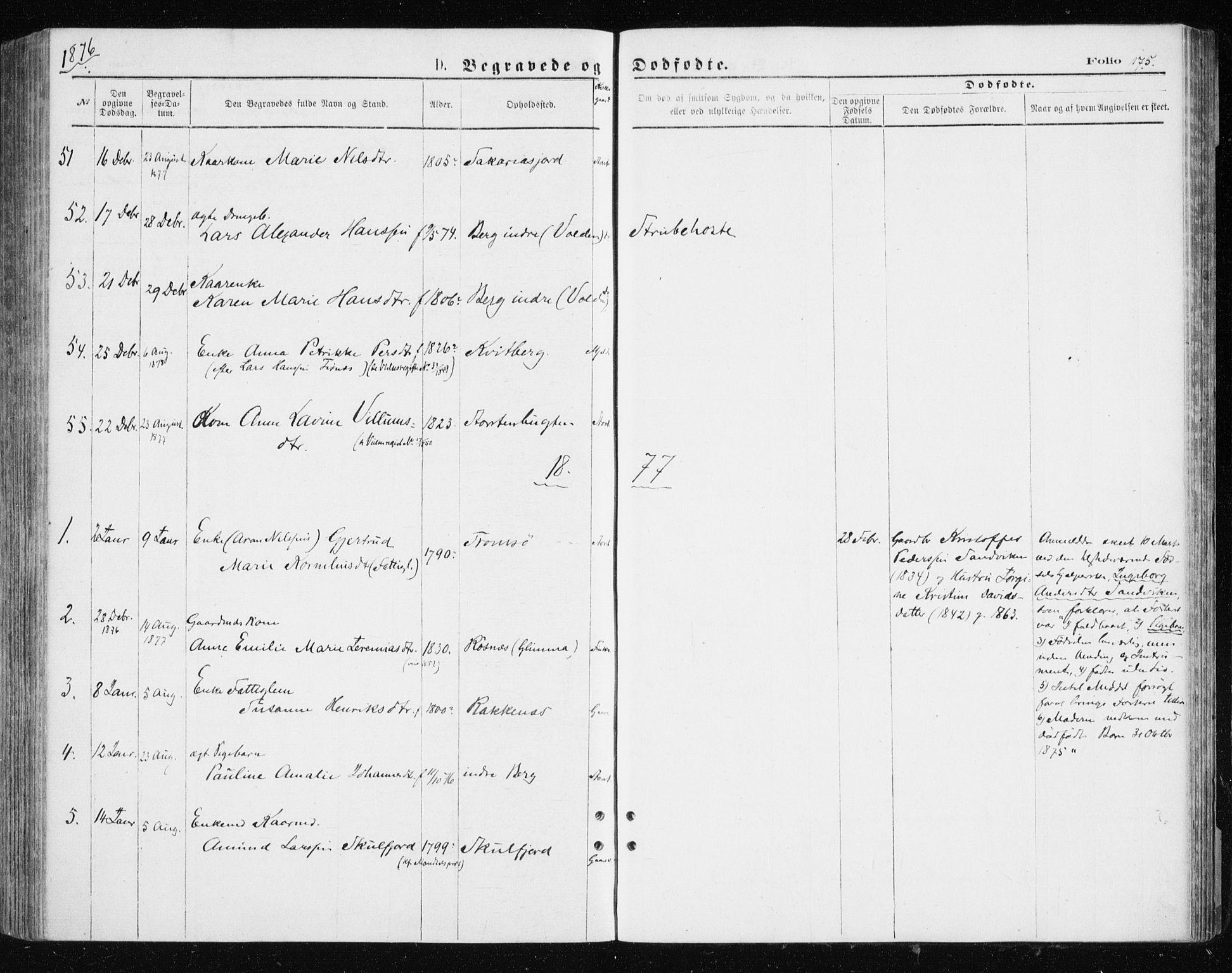 SATØ, Tromsøysund sokneprestkontor, G/Ga/L0003kirke: Parish register (official) no. 3, 1875-1880, p. 175