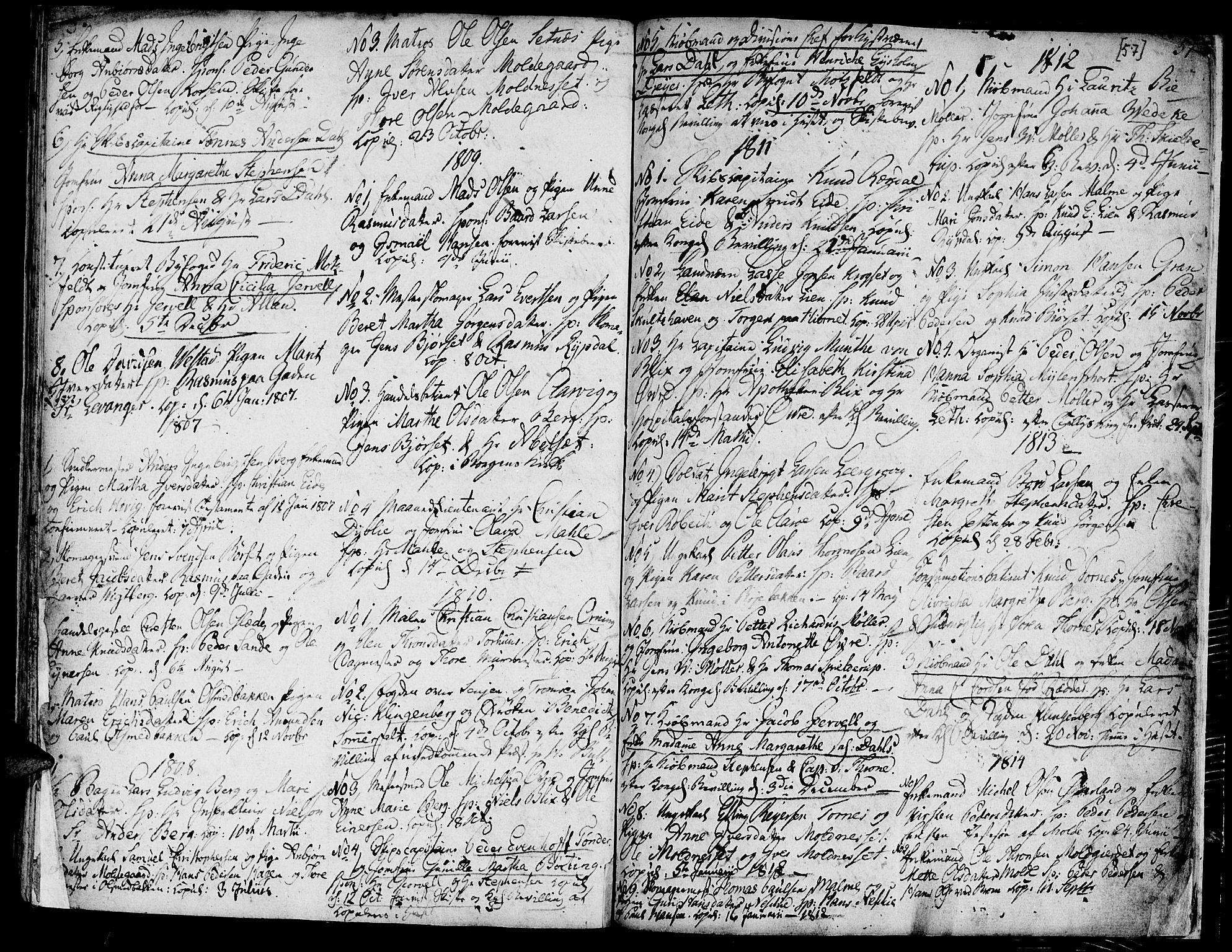 SAT, Ministerialprotokoller, klokkerbøker og fødselsregistre - Møre og Romsdal, 558/L0687: Parish register (official) no. 558A01, 1798-1818, p. 57