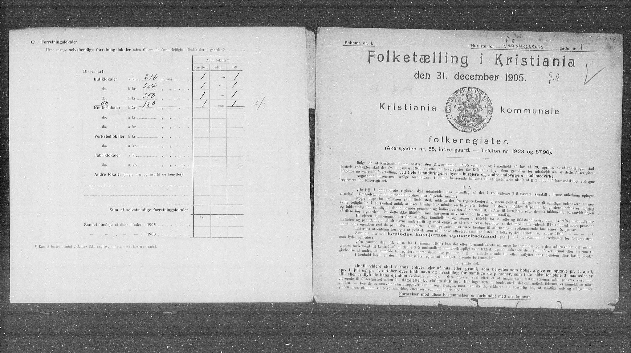 OBA, Municipal Census 1905 for Kristiania, 1905, p. 47749