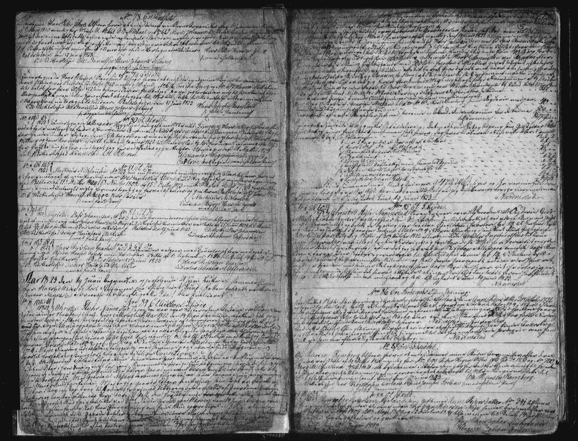 SAT, Vesterålen sorenskriveri, 2/2Ca/L0007: Mortgage book no. G, 1823-1836, p. 5