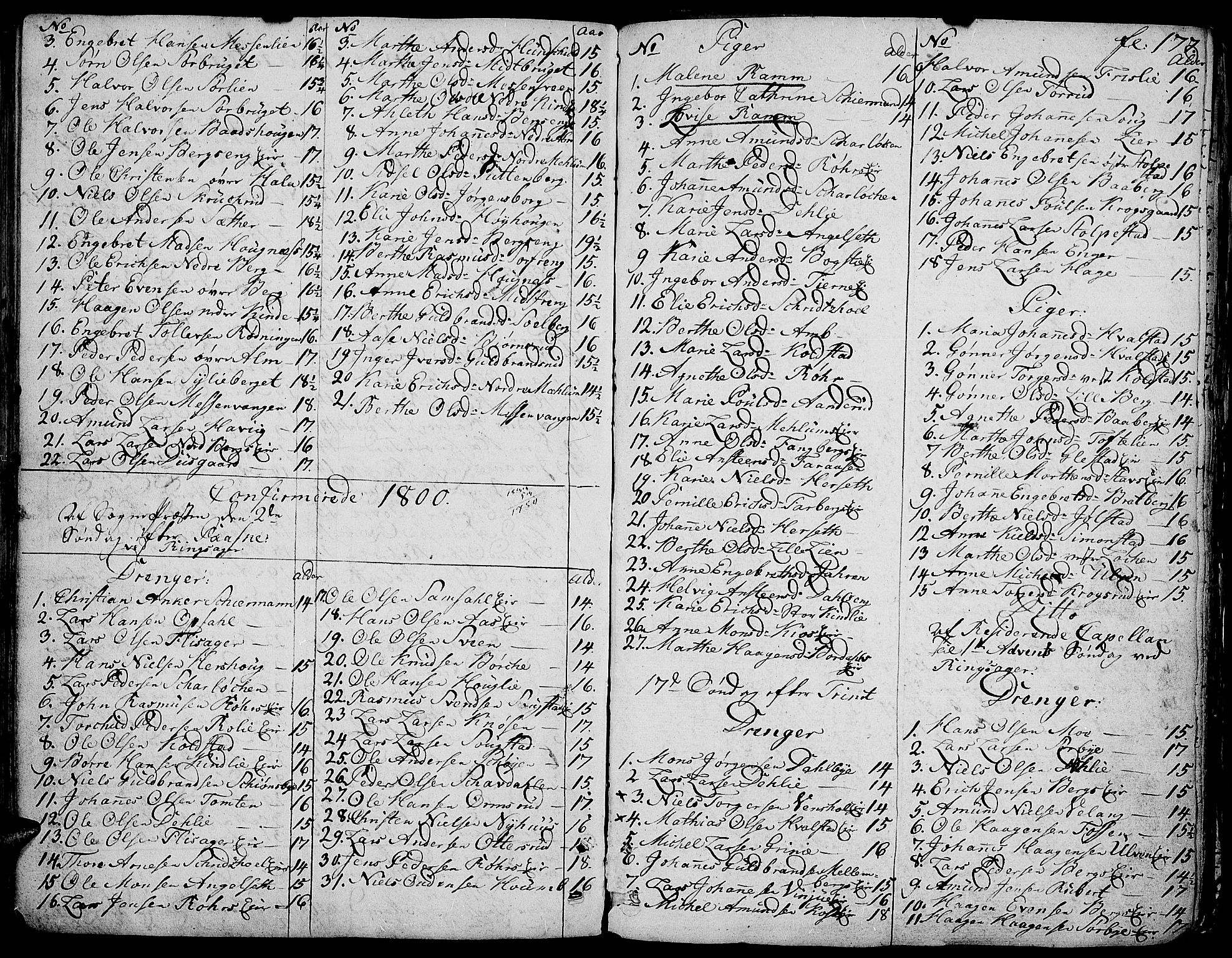 SAH, Ringsaker prestekontor, K/Ka/L0004: Parish register (official) no. 4, 1799-1814, p. 177