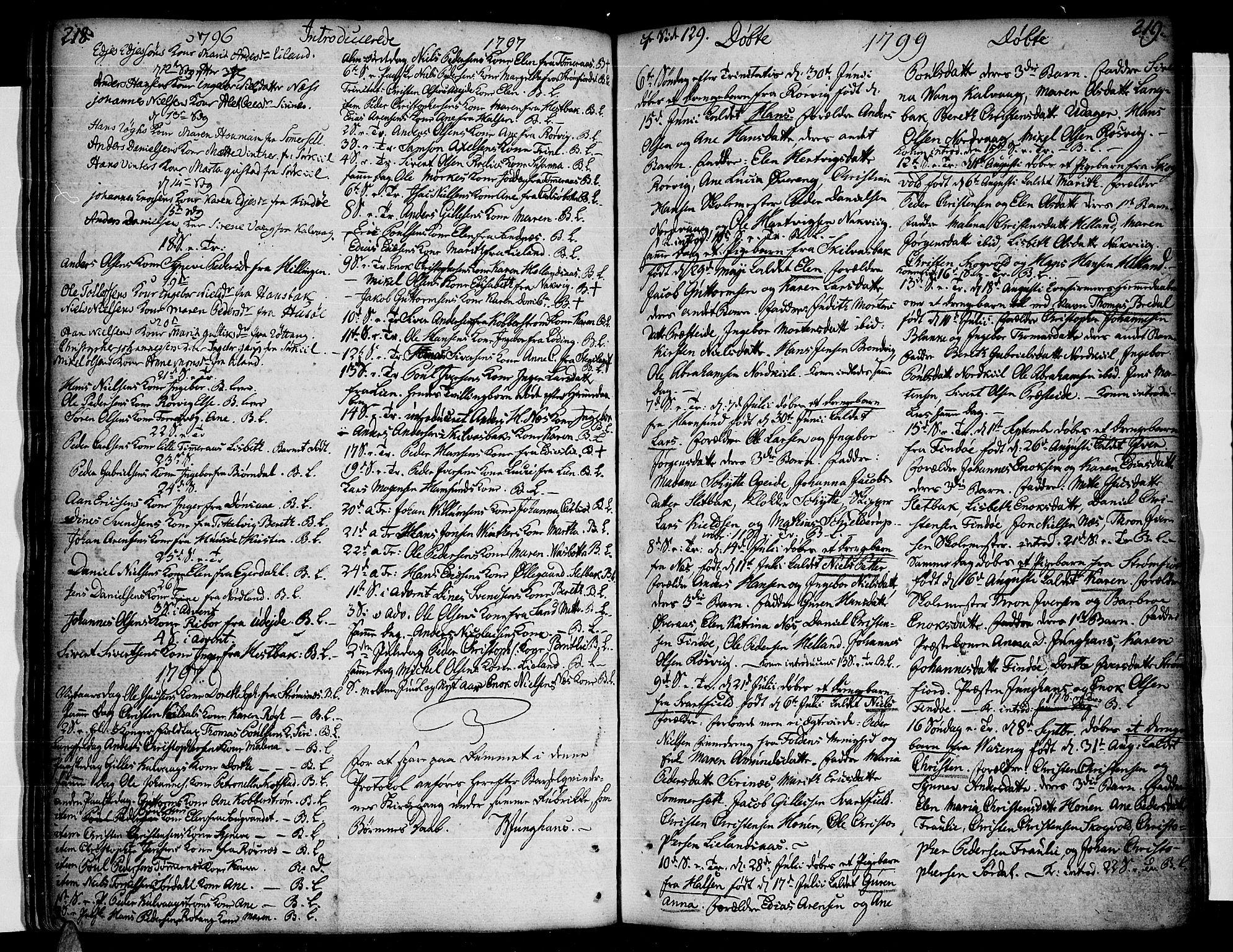 SAT, Ministerialprotokoller, klokkerbøker og fødselsregistre - Nordland, 859/L0841: Parish register (official) no. 859A01, 1766-1821, p. 218-219