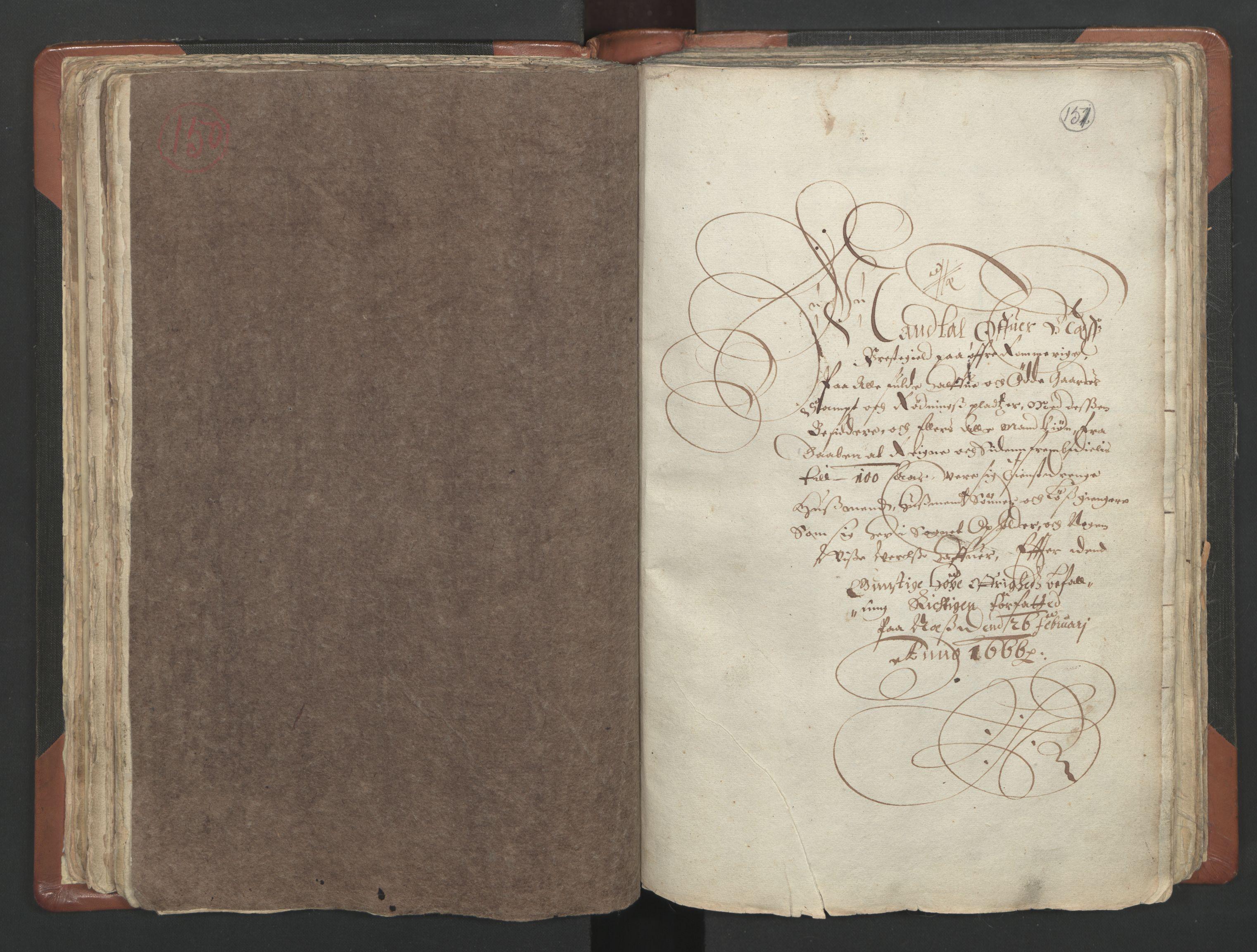 RA, Vicar's Census 1664-1666, no. 4: Øvre Romerike deanery, 1664-1666, p. 150-151