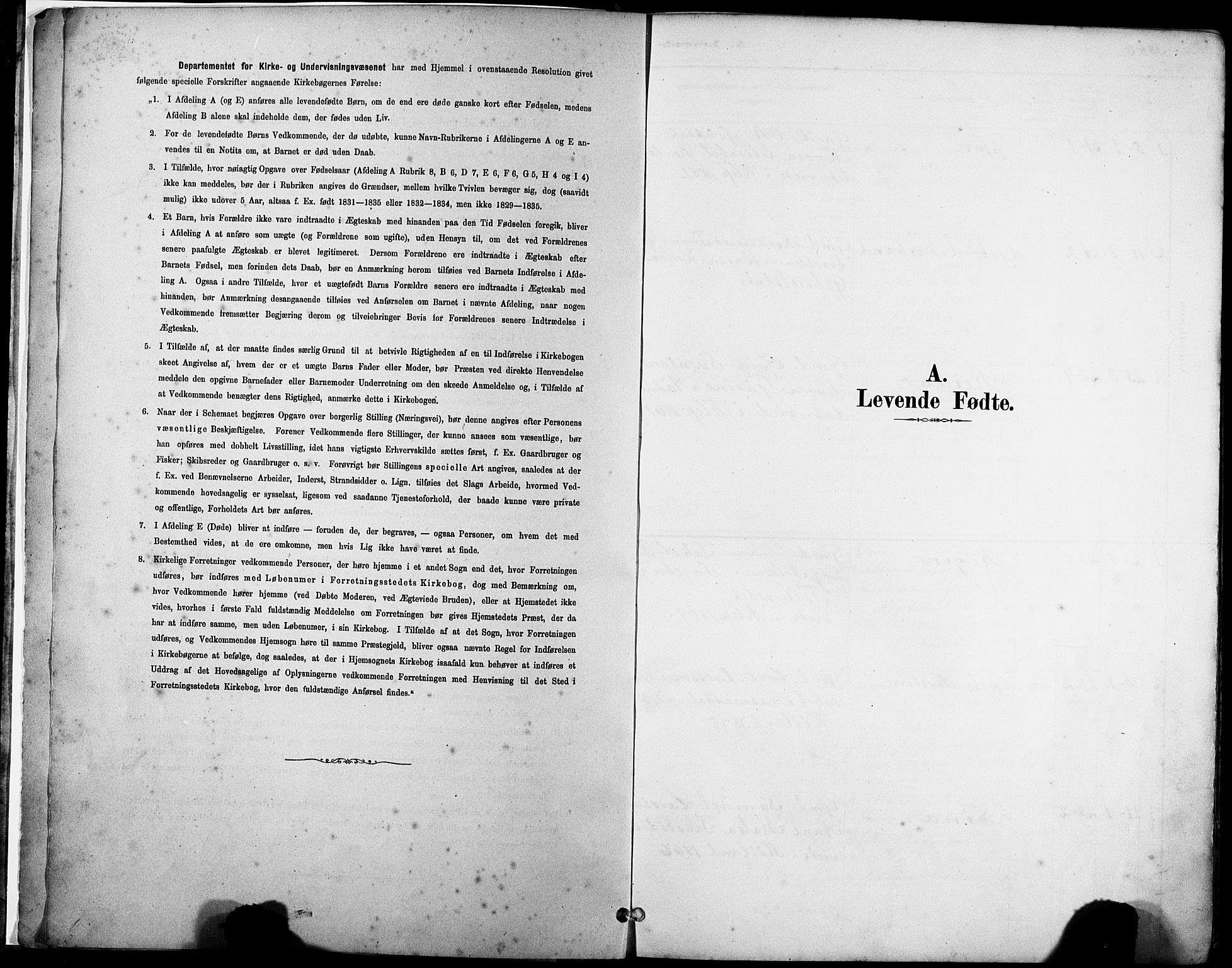 SAST, Klepp sokneprestkontor, 30BA/L0008: Parish register (official) no. A 9, 1886-1919