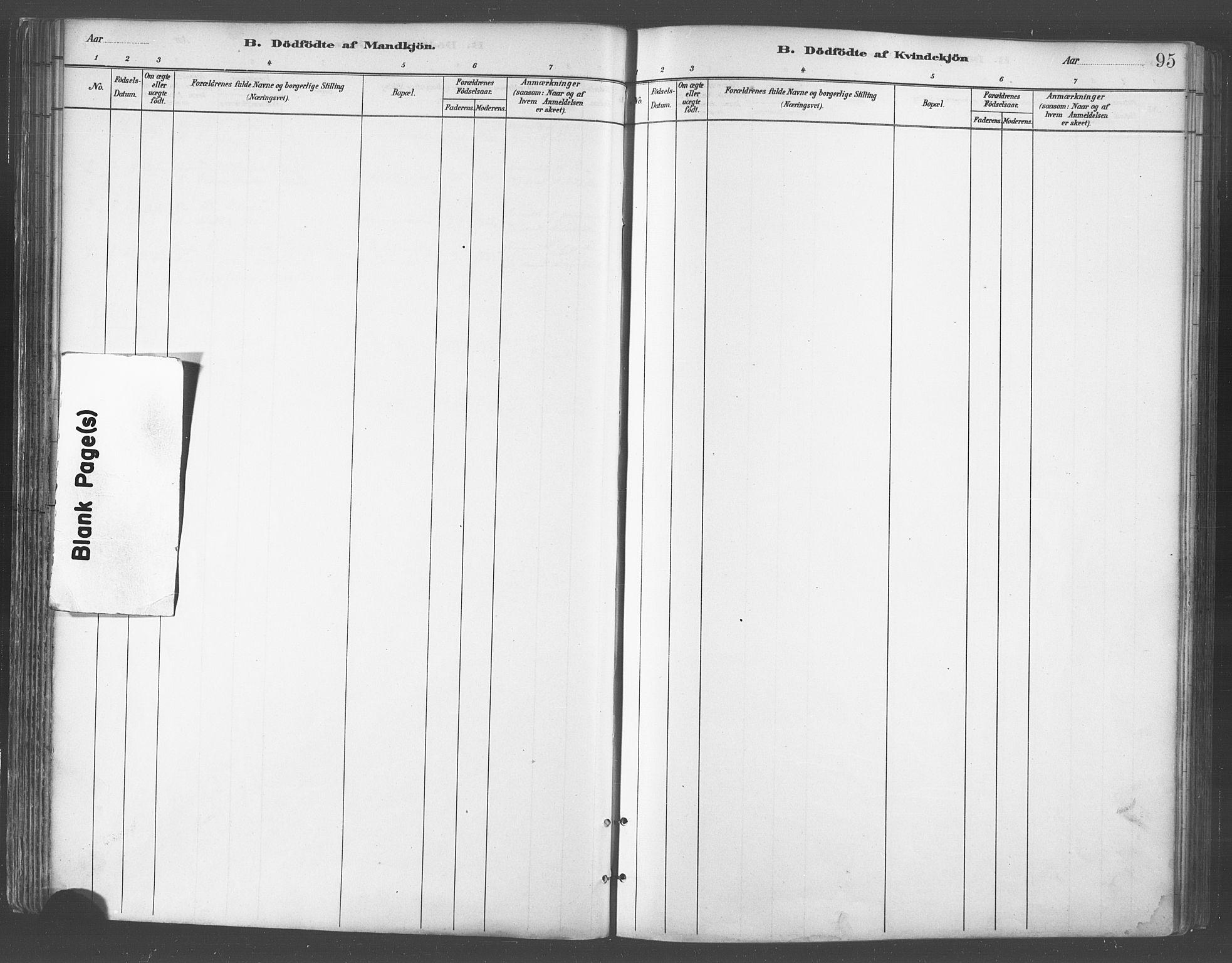 SATØ, Balsfjord sokneprestembete, Parish register (official) no. 5, 1884-1897, p. 95