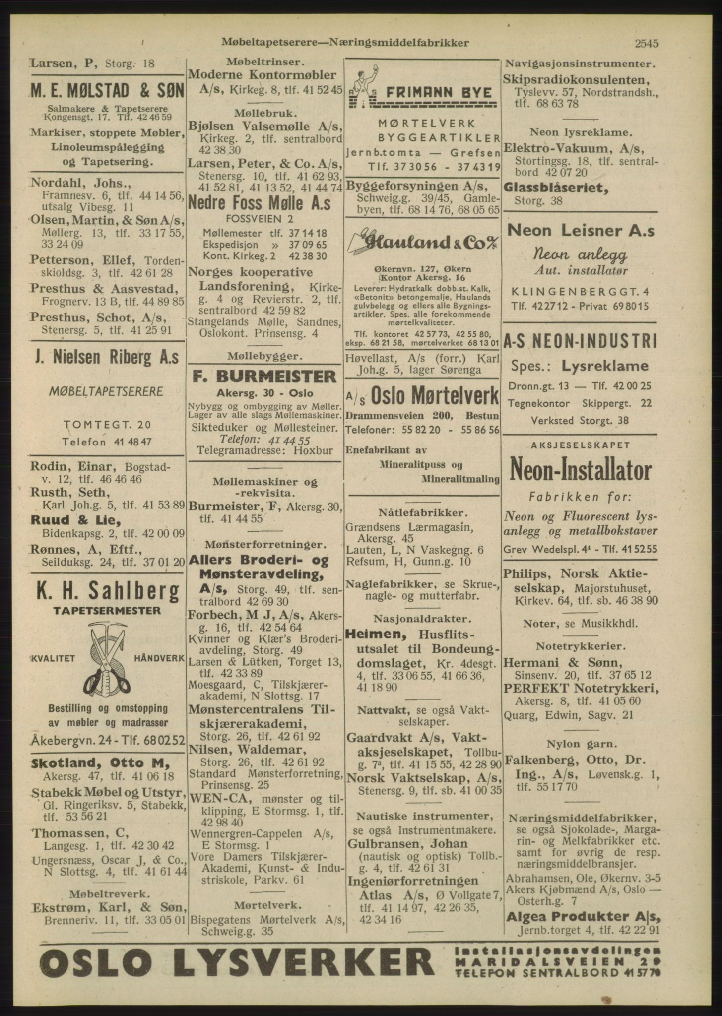 PUBL, Kristiania/Oslo adressebok, 1948, p. 2545