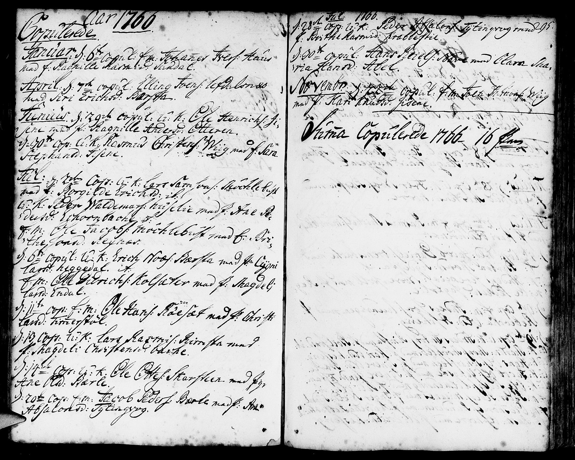 SAB, Davik Sokneprestembete, Parish register (official) no. A 2, 1742-1816, p. 295
