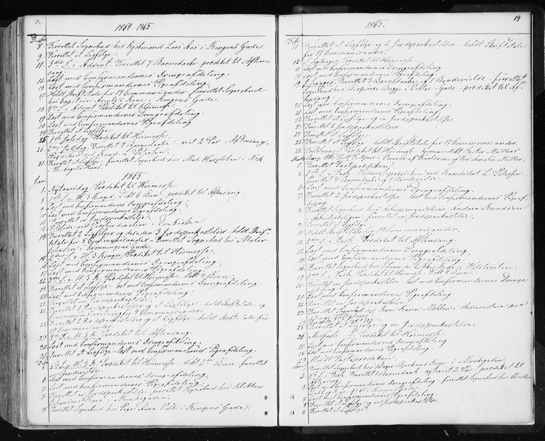SAT, Ministerialprotokoller, klokkerbøker og fødselsregistre - Sør-Trøndelag, 601/L0053: Parish register (official) no. 601A21, 1857-1865, p. 19