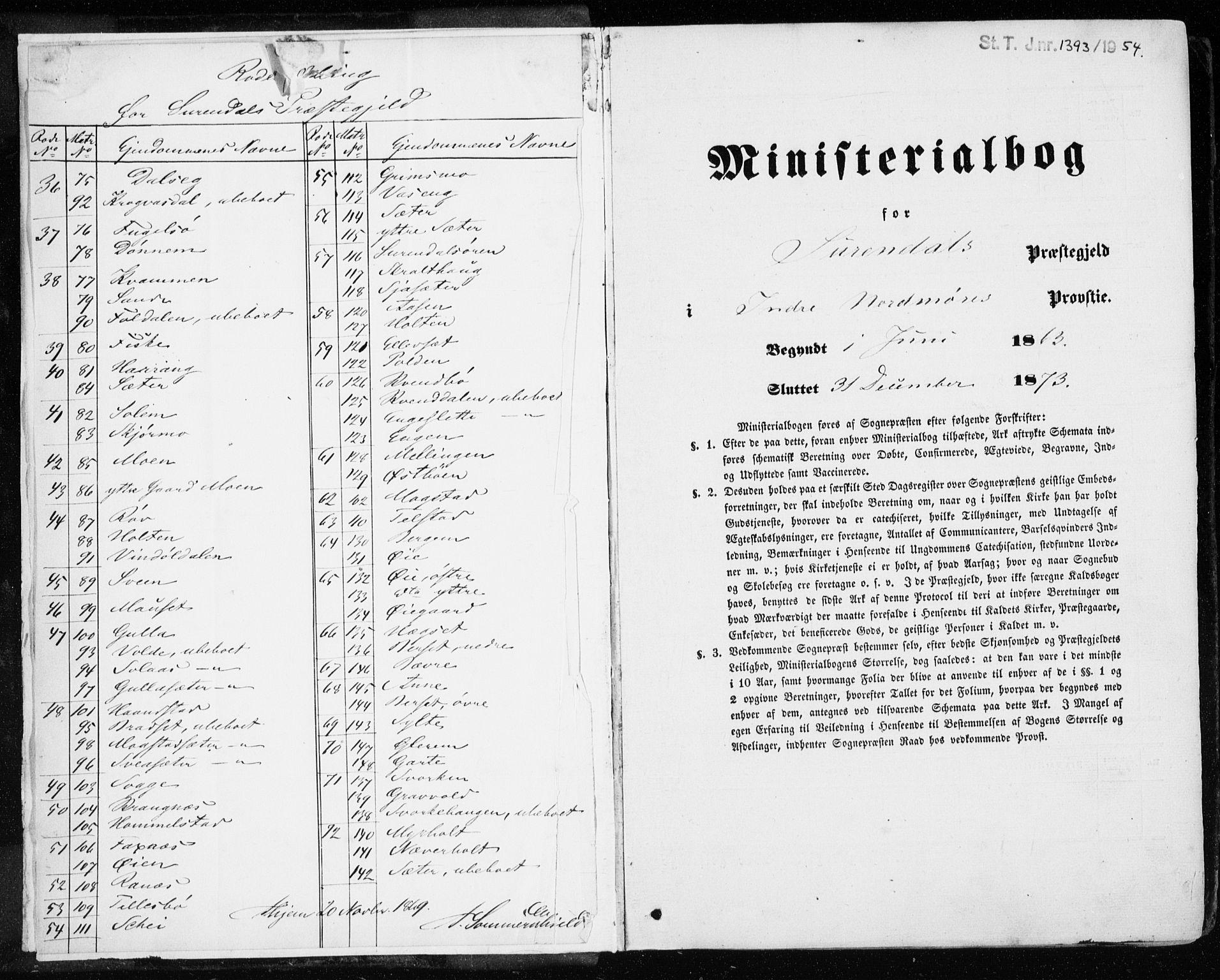 SAT, Ministerialprotokoller, klokkerbøker og fødselsregistre - Møre og Romsdal, 595/L1045: Parish register (official) no. 595A07, 1863-1873