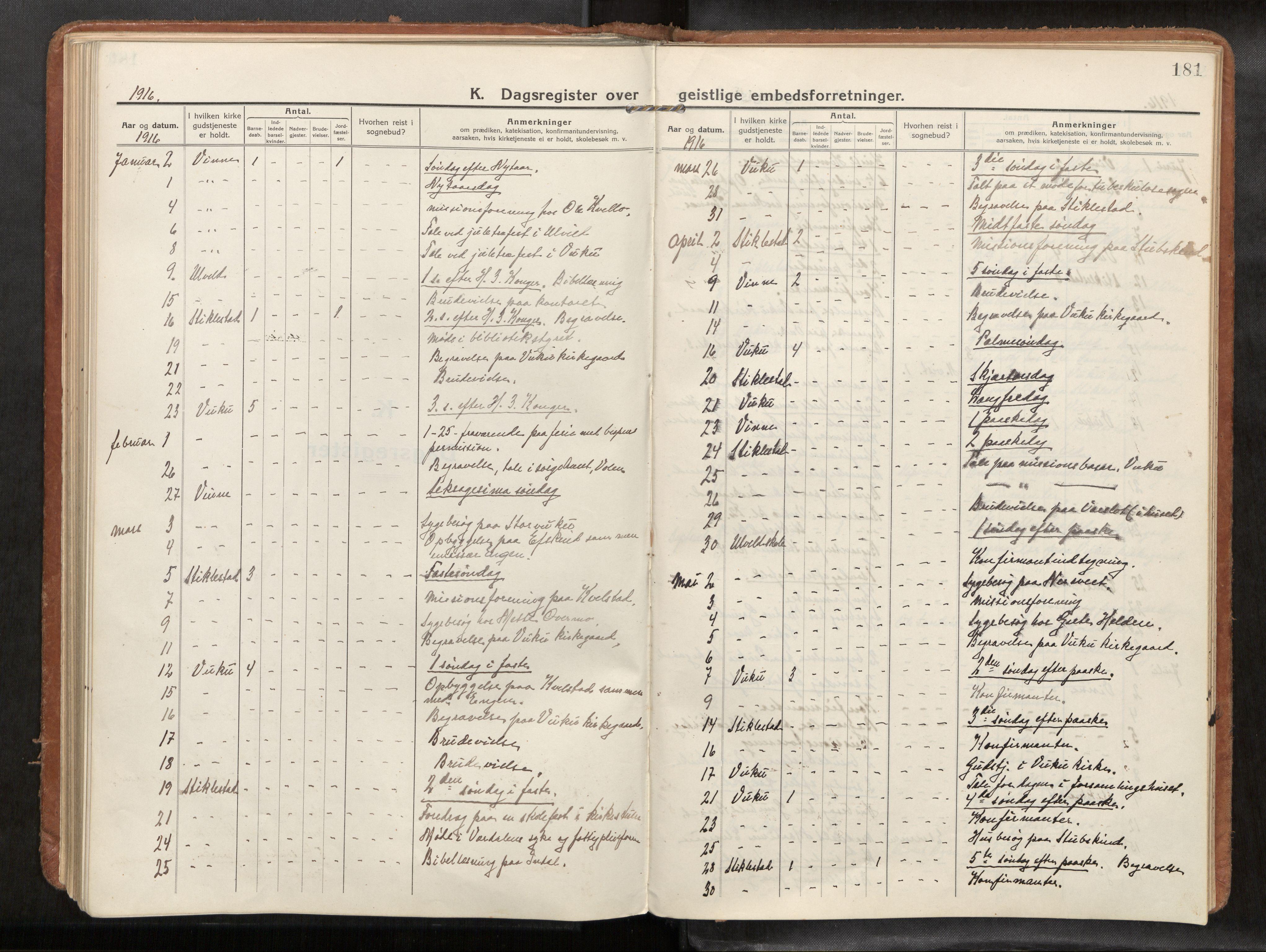 SAT, Verdal sokneprestkontor*, Parish register (official) no. 1, 1916-1928, p. 181