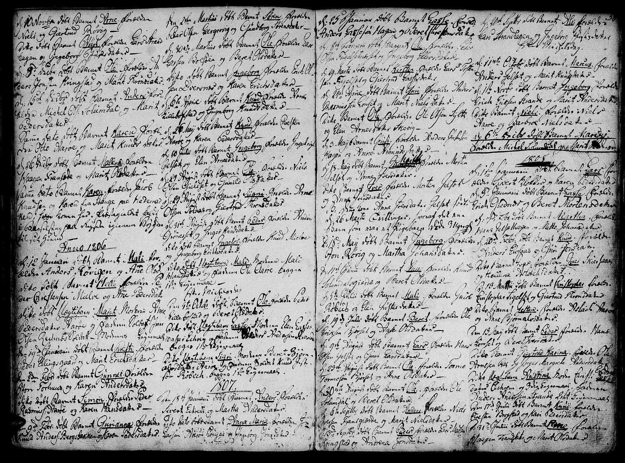 SAT, Ministerialprotokoller, klokkerbøker og fødselsregistre - Møre og Romsdal, 555/L0649: Parish register (official) no. 555A02 /1, 1795-1821, p. 58