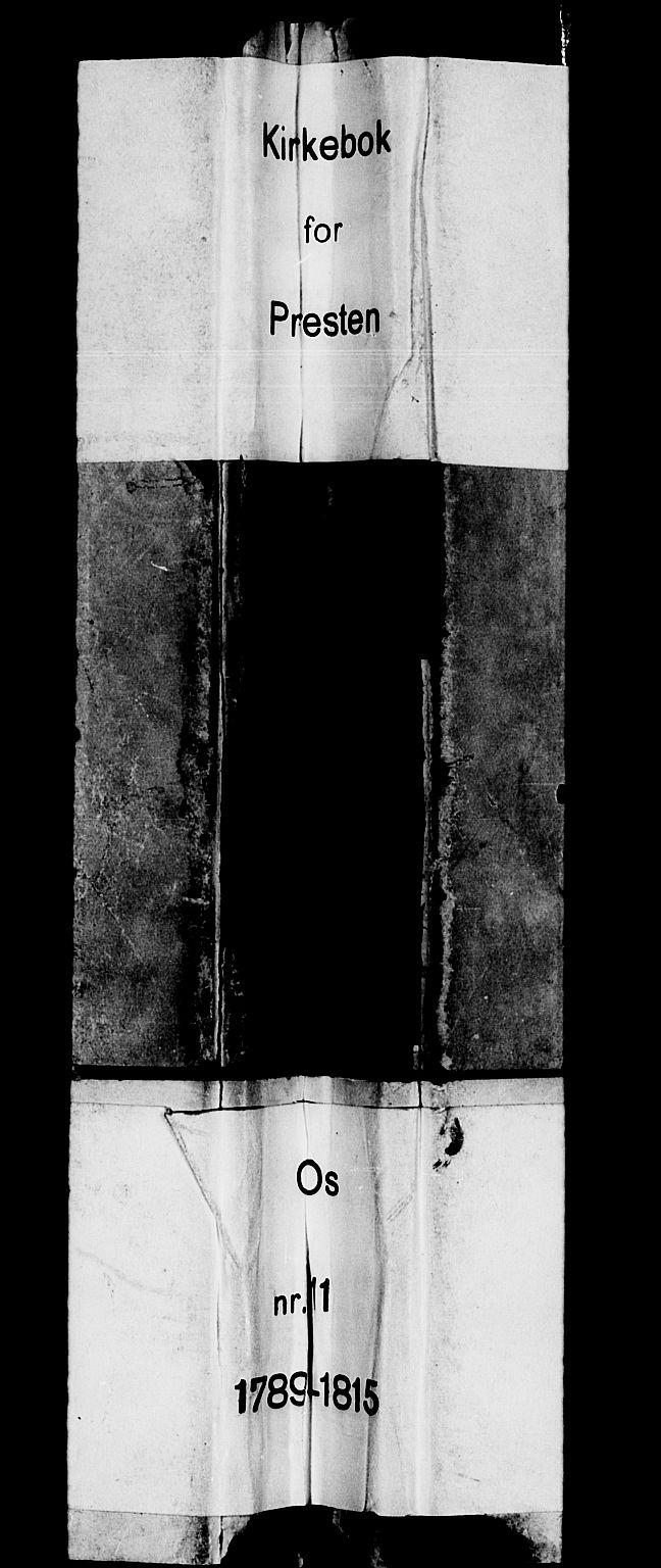 SAB, Os sokneprestembete*, Parish register (official) no. A 11, 1789-1815