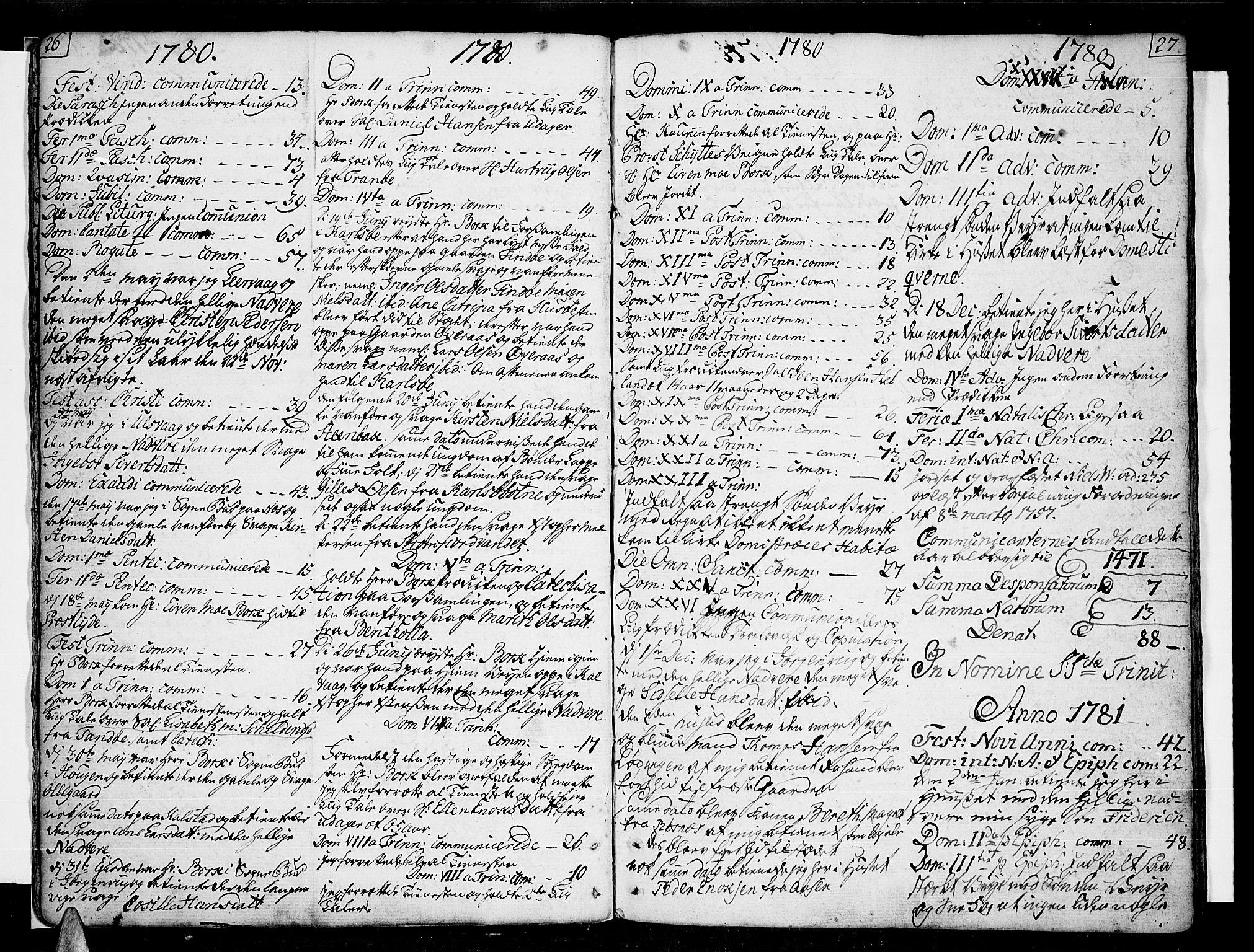 SAT, Ministerialprotokoller, klokkerbøker og fødselsregistre - Nordland, 859/L0841: Parish register (official) no. 859A01, 1766-1821, p. 26-27