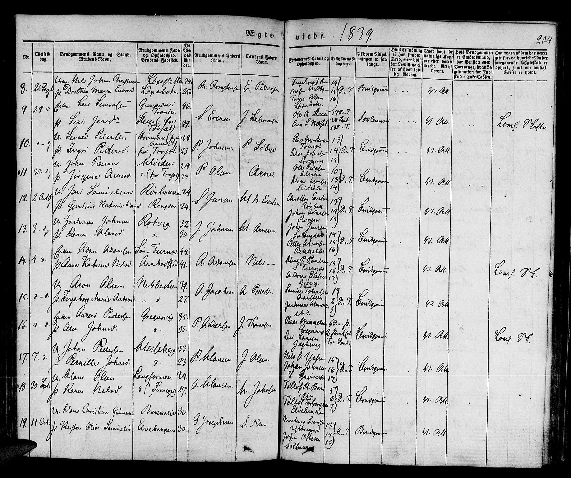 SATØ, Ibestad sokneprestembete, H/Ha/Haa/L0006kirke: Parish register (official) no. 6, 1837-1850, p. 204
