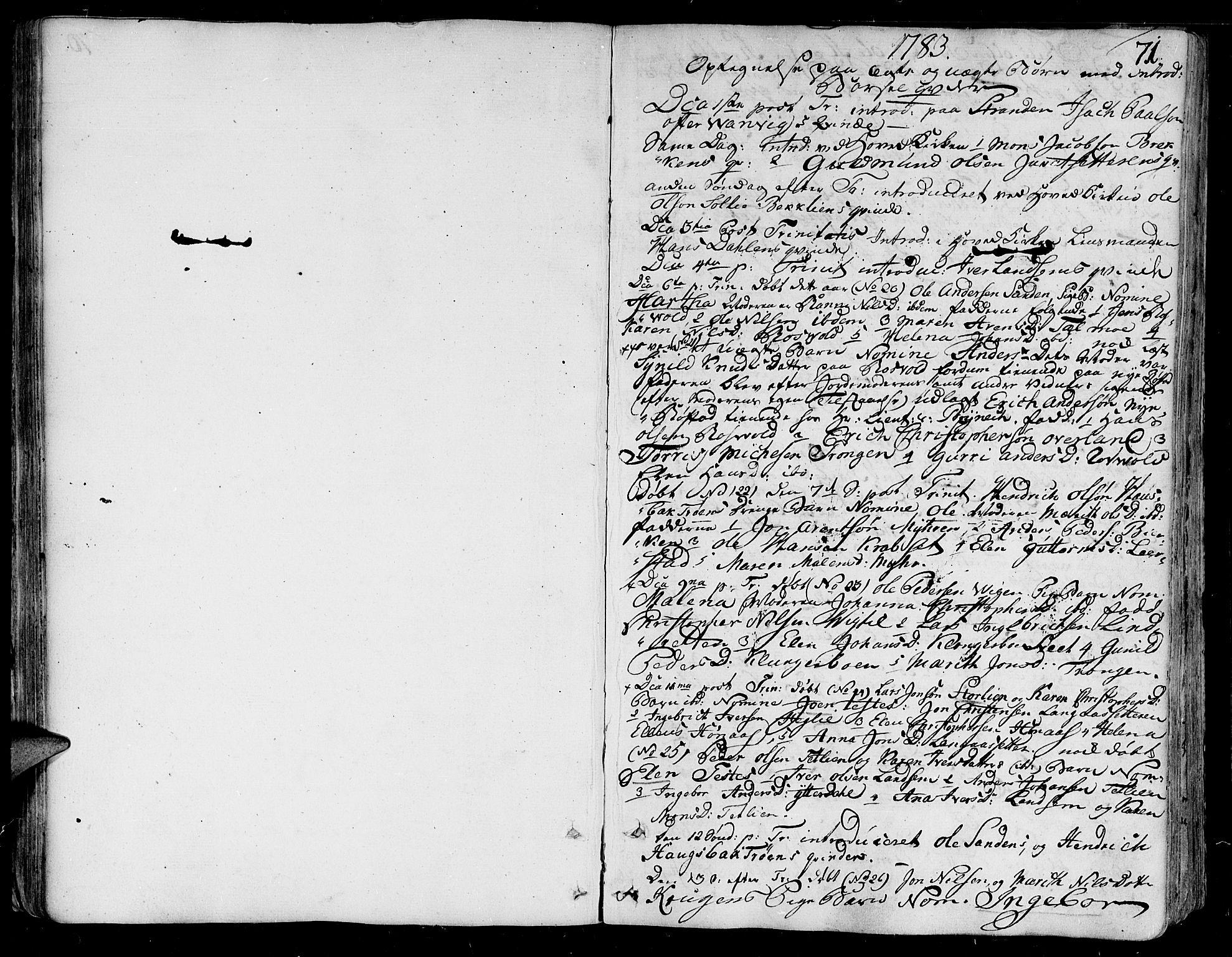 SAT, Ministerialprotokoller, klokkerbøker og fødselsregistre - Nord-Trøndelag, 701/L0004: Parish register (official) no. 701A04, 1783-1816, p. 71