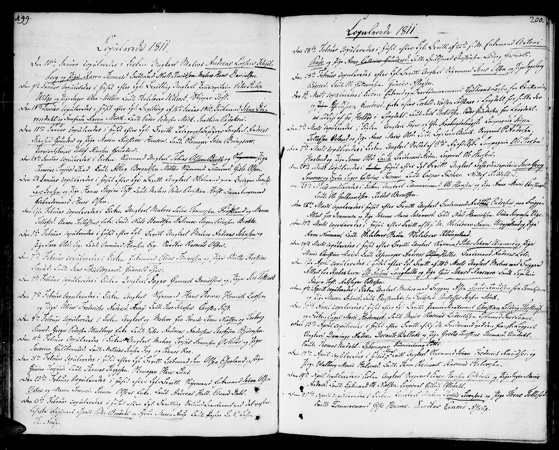 SAK, Kristiansand domprosti, F/Fa/L0005: Parish register (official) no. A 5, 1776-1818, p. 199-200