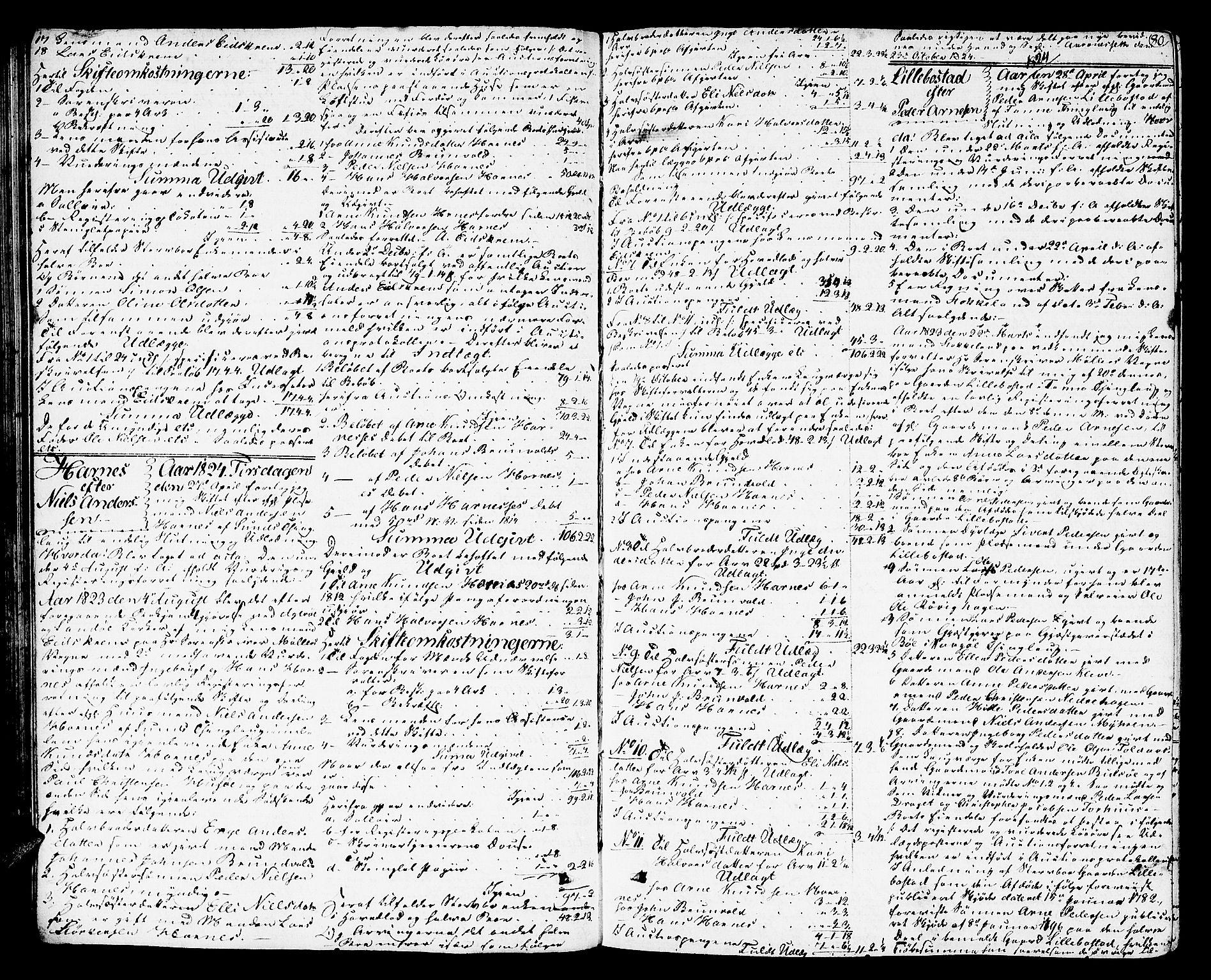 SAT, Romsdal sorenskriveri, 3/3A/L0016: Skifteutlodnings Protokoll 2, 1823-1831, p. 80