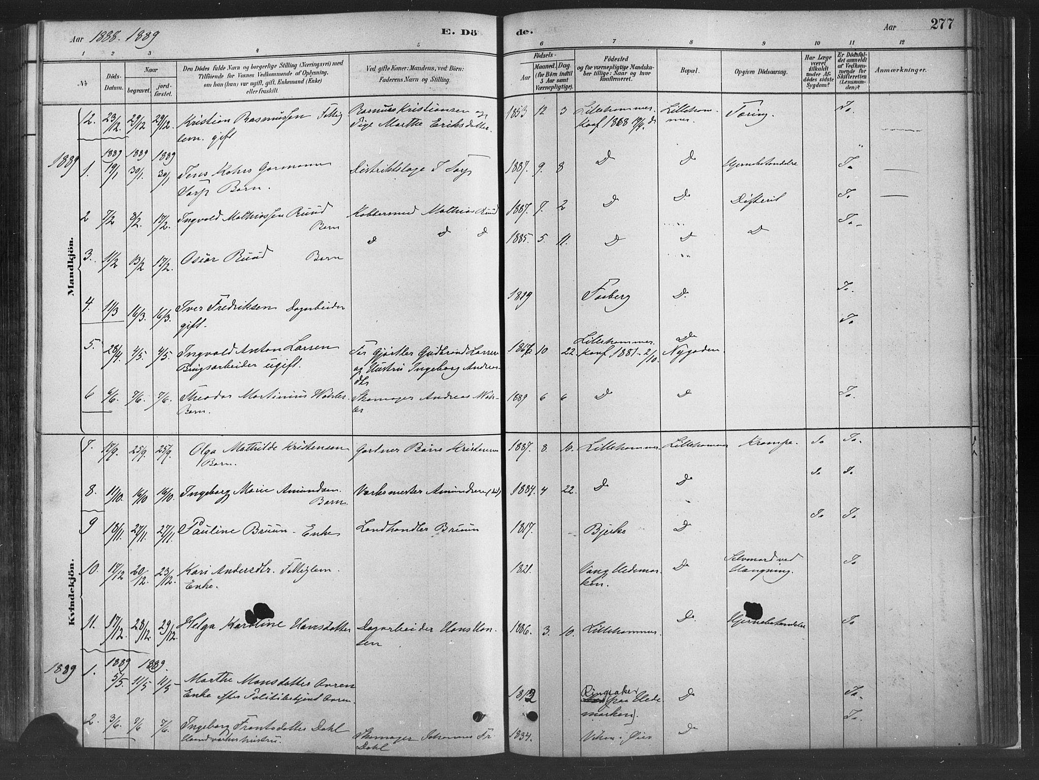 SAH, Fåberg prestekontor, H/Ha/Haa/L0010: Parish register (official) no. 10, 1879-1900, p. 277