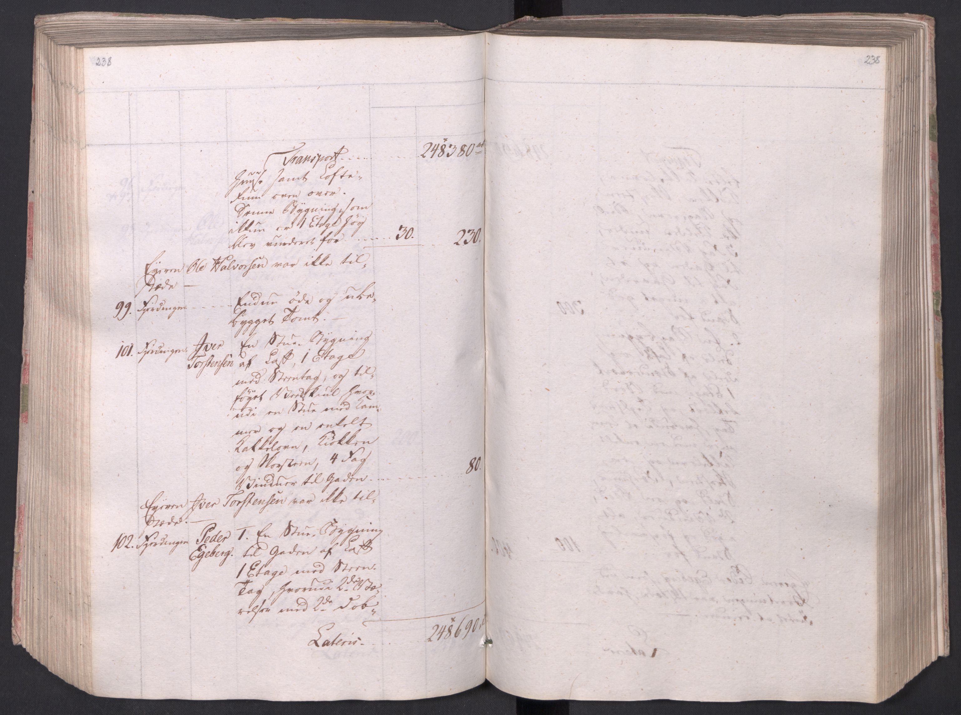 SAO, Kristiania stiftamt, I/Ia/L0015: Branntakster, 1797, p. 238