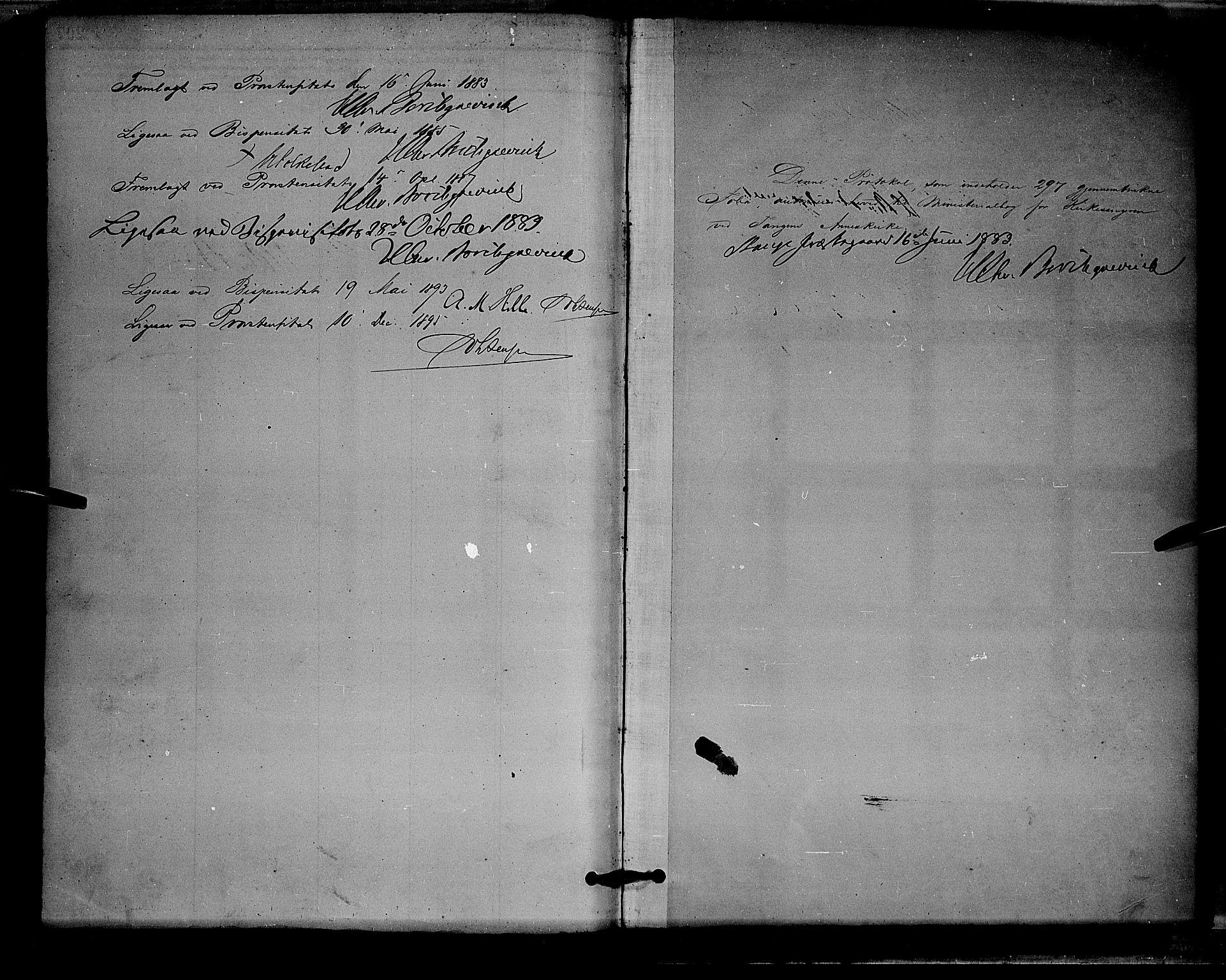 SAH, Stange prestekontor, L/L0008: Parish register (copy) no. 8, 1882-1895