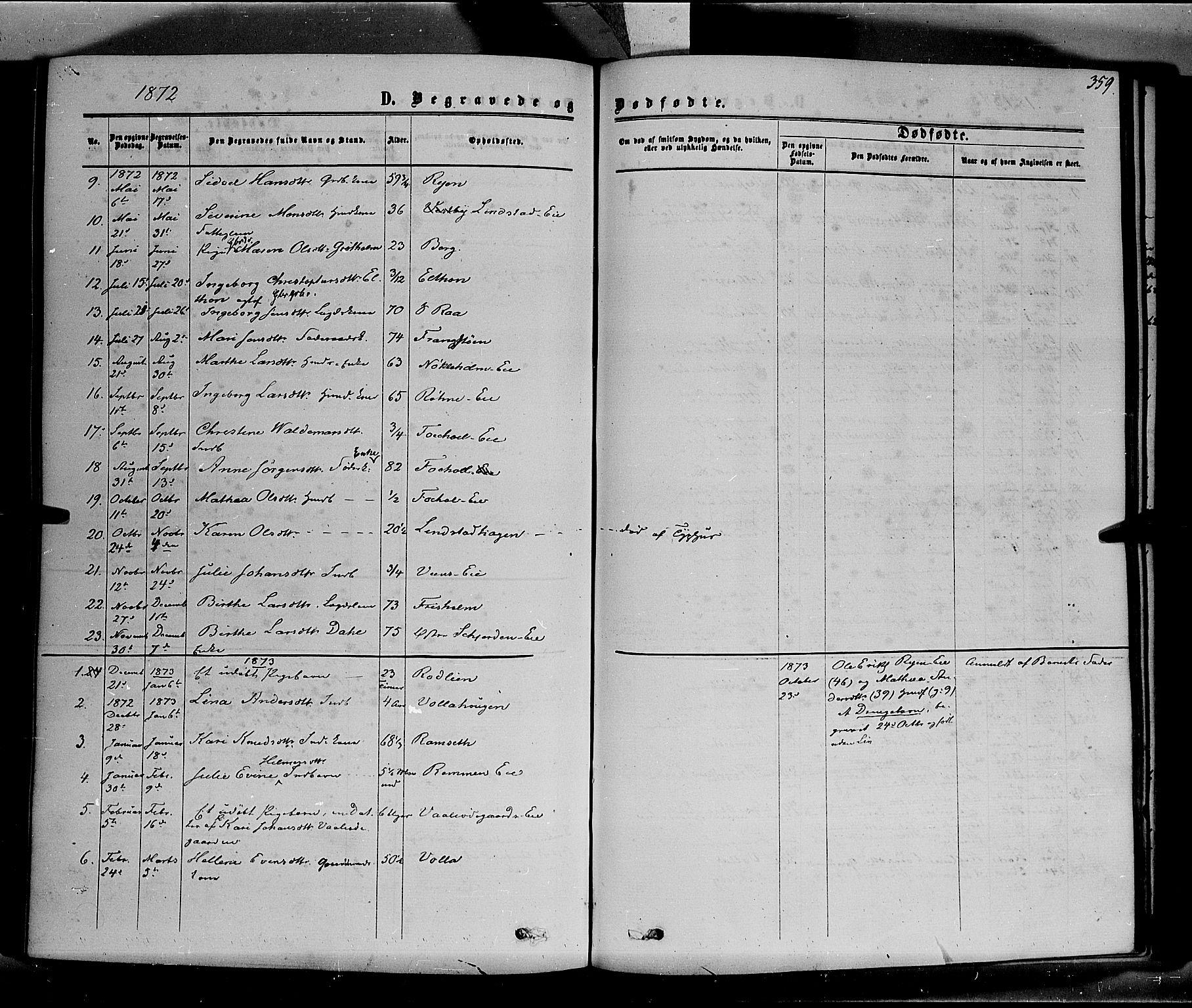SAH, Stange prestekontor, K/L0013: Parish register (official) no. 13, 1862-1879, p. 359