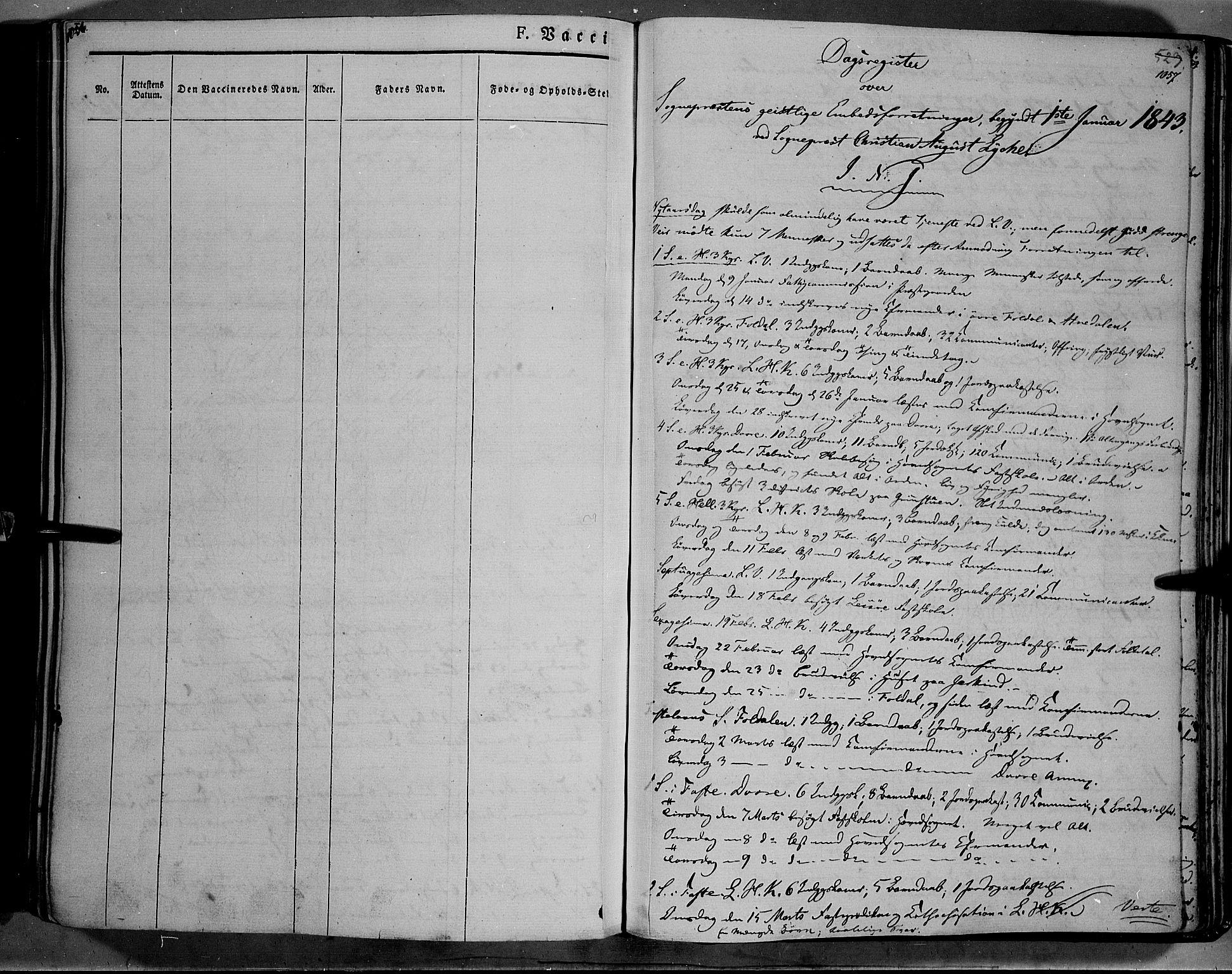 SAH, Lesja prestekontor, Parish register (official) no. 6B, 1843-1854, p. 1056-1057