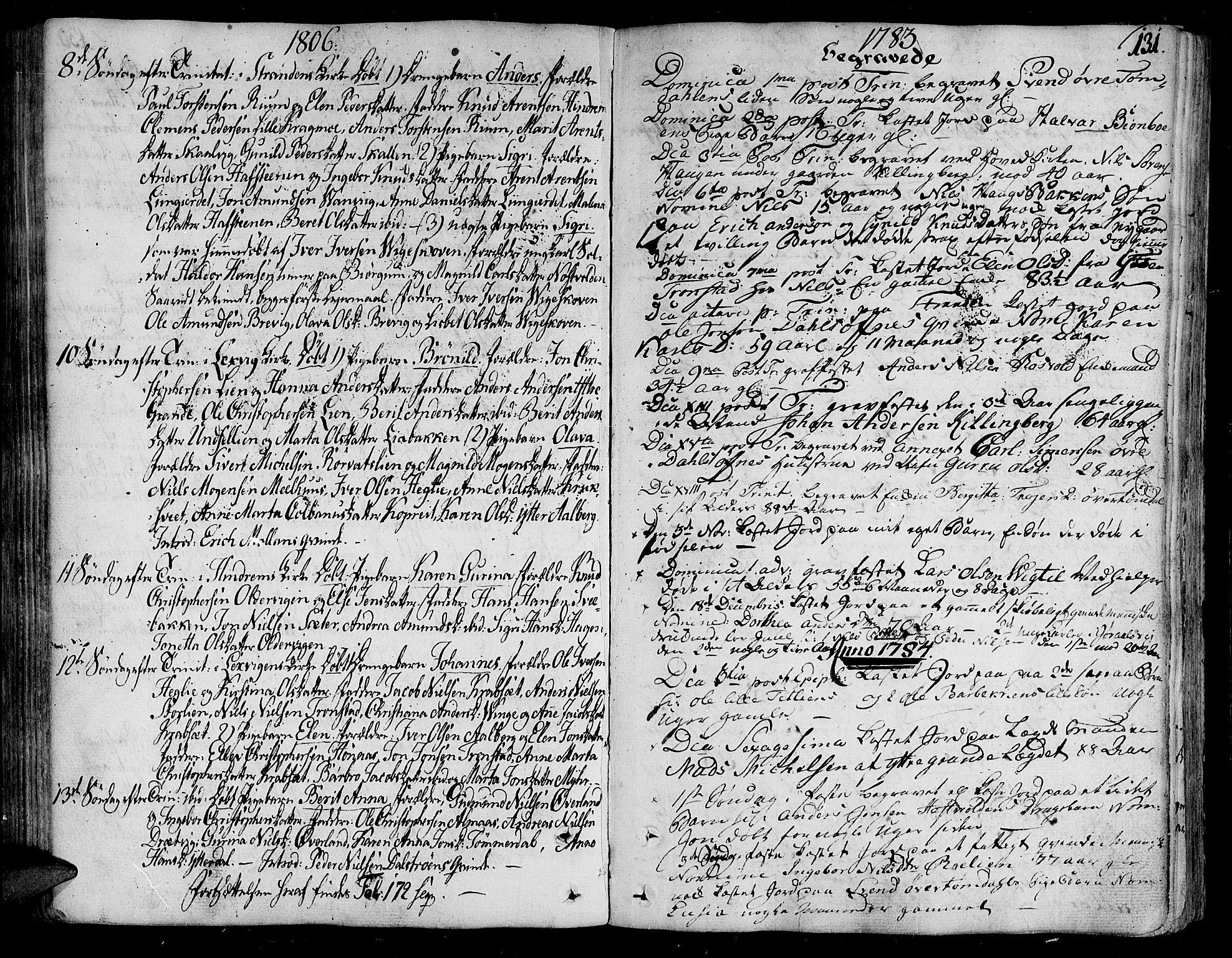 SAT, Ministerialprotokoller, klokkerbøker og fødselsregistre - Nord-Trøndelag, 701/L0004: Parish register (official) no. 701A04, 1783-1816, p. 131