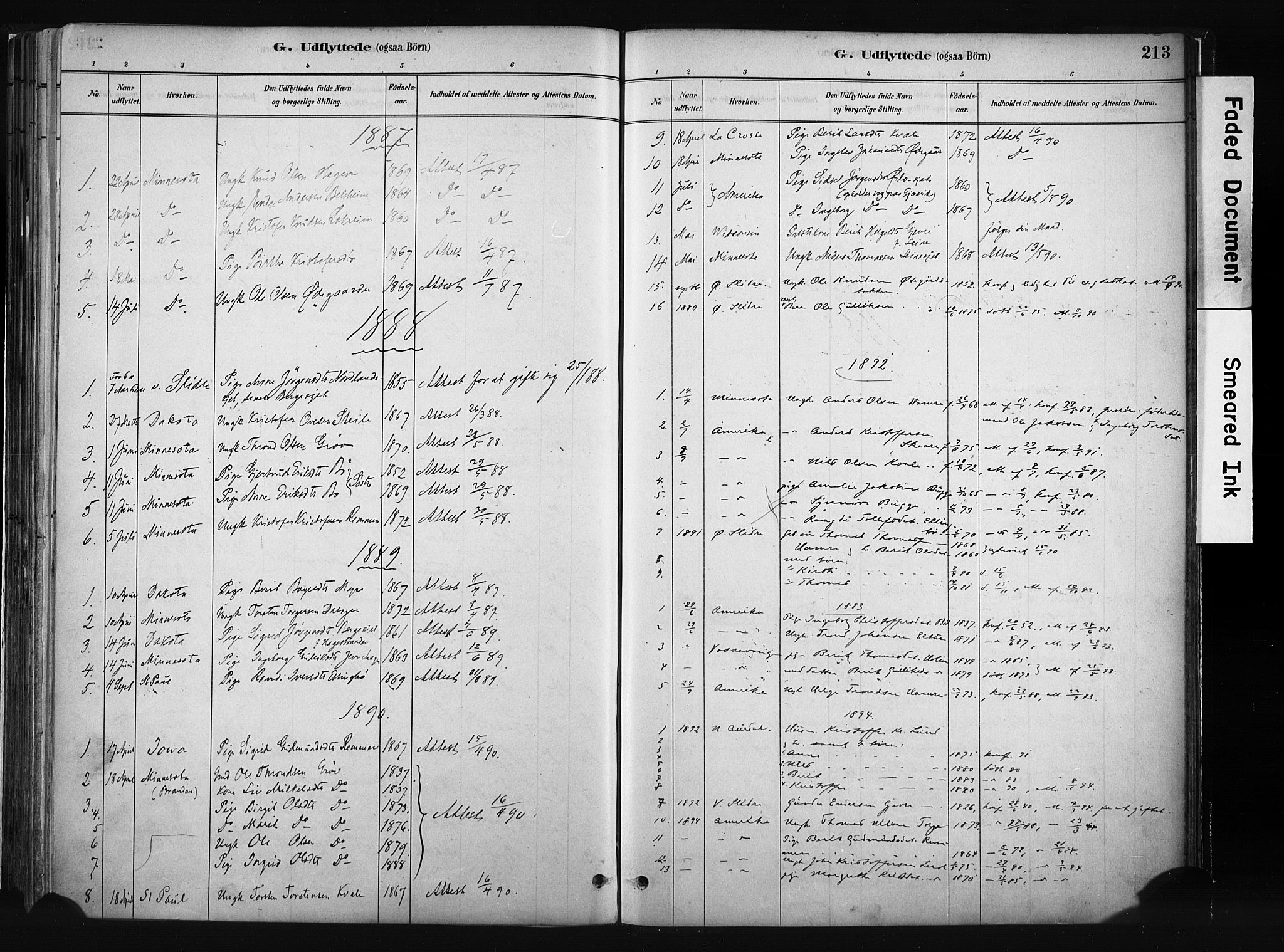 SAH, Vang prestekontor, Valdres, Parish register (official) no. 8, 1882-1910, p. 213