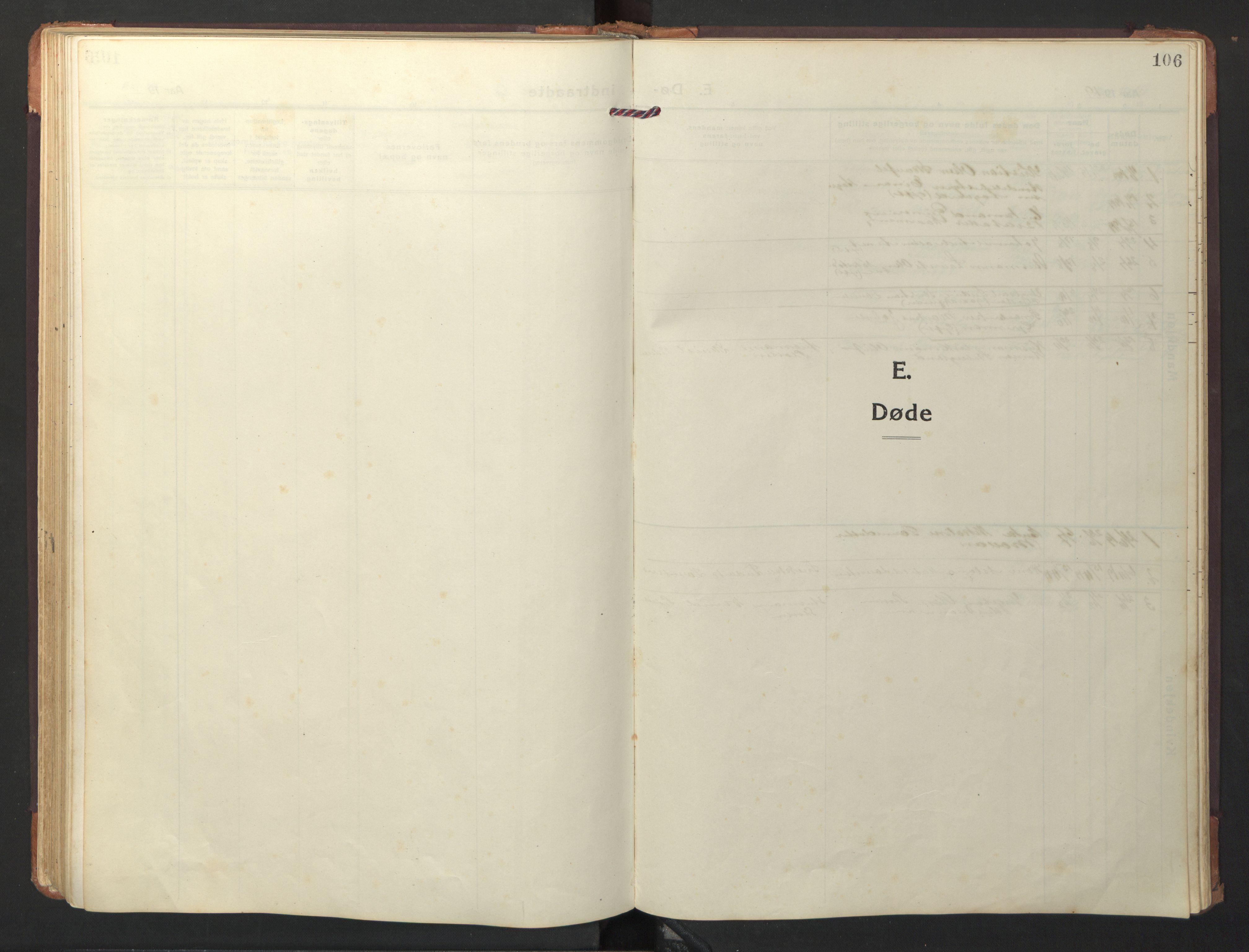 SAT, Ministerialprotokoller, klokkerbøker og fødselsregistre - Nord-Trøndelag, 733/L0328: Parish register (copy) no. 733C03, 1919-1966, p. 106