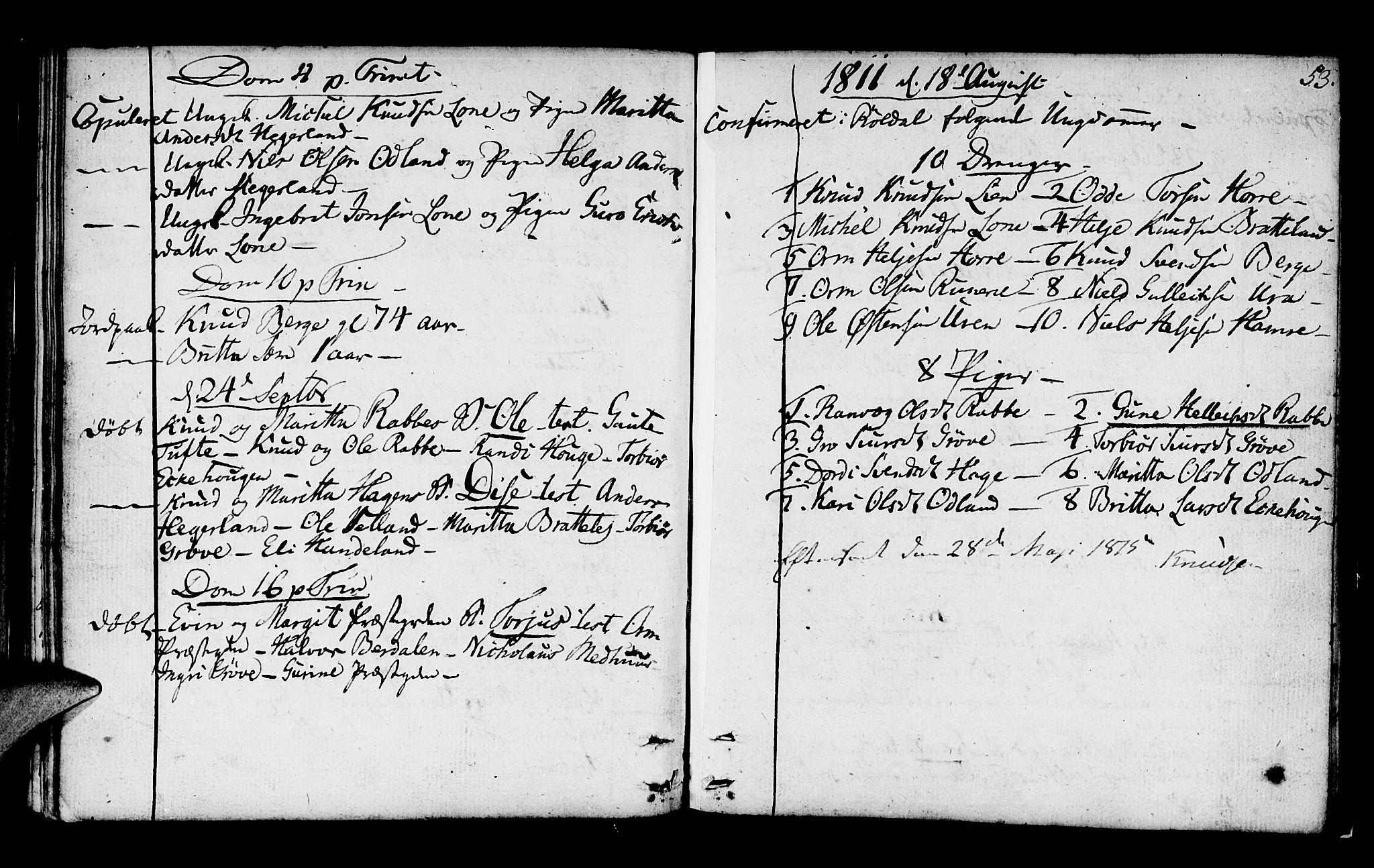 SAB, Røldal sokneprestembete, Parish register (official) no. A 1, 1780-1816, p. 53