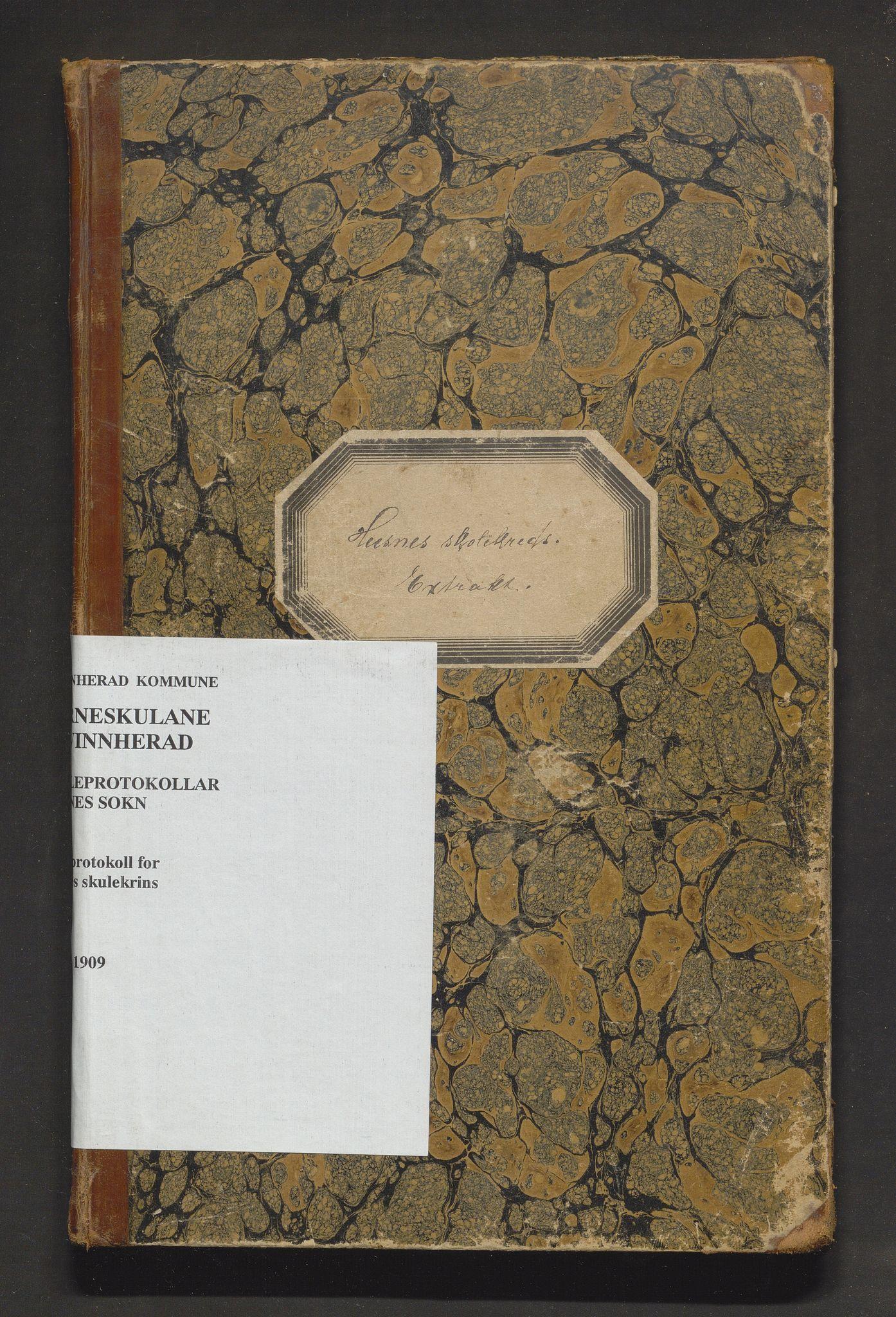 IKAH, Kvinnherad kommune. Barneskulane, F/Ff/L0004: Skuleprotokoll for Husnes krins , 1891-1909