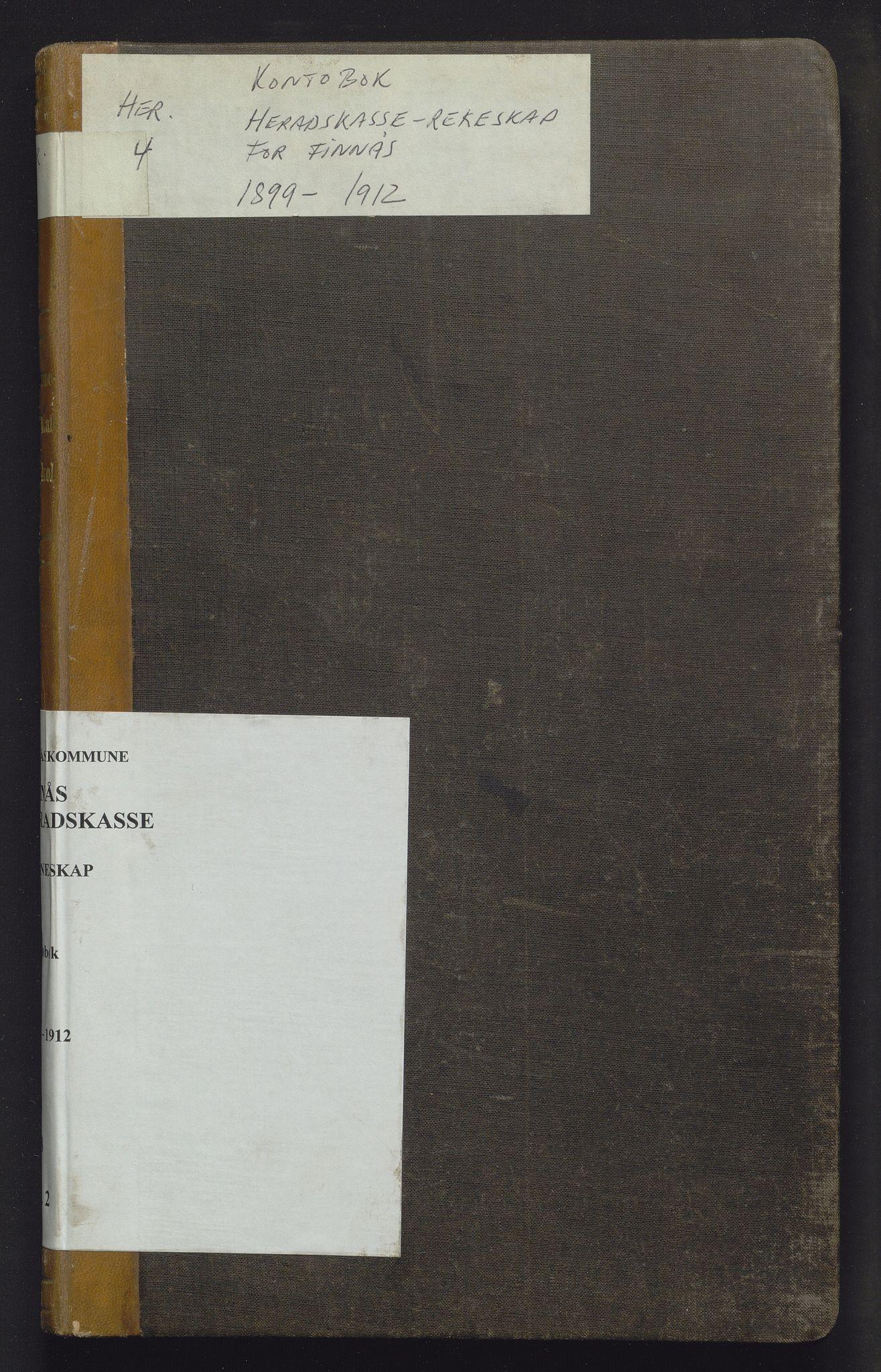 IKAH, Finnaas kommune. Heradskassen, R/Rc/Rca/L0002: Kontobok, 1899-1912