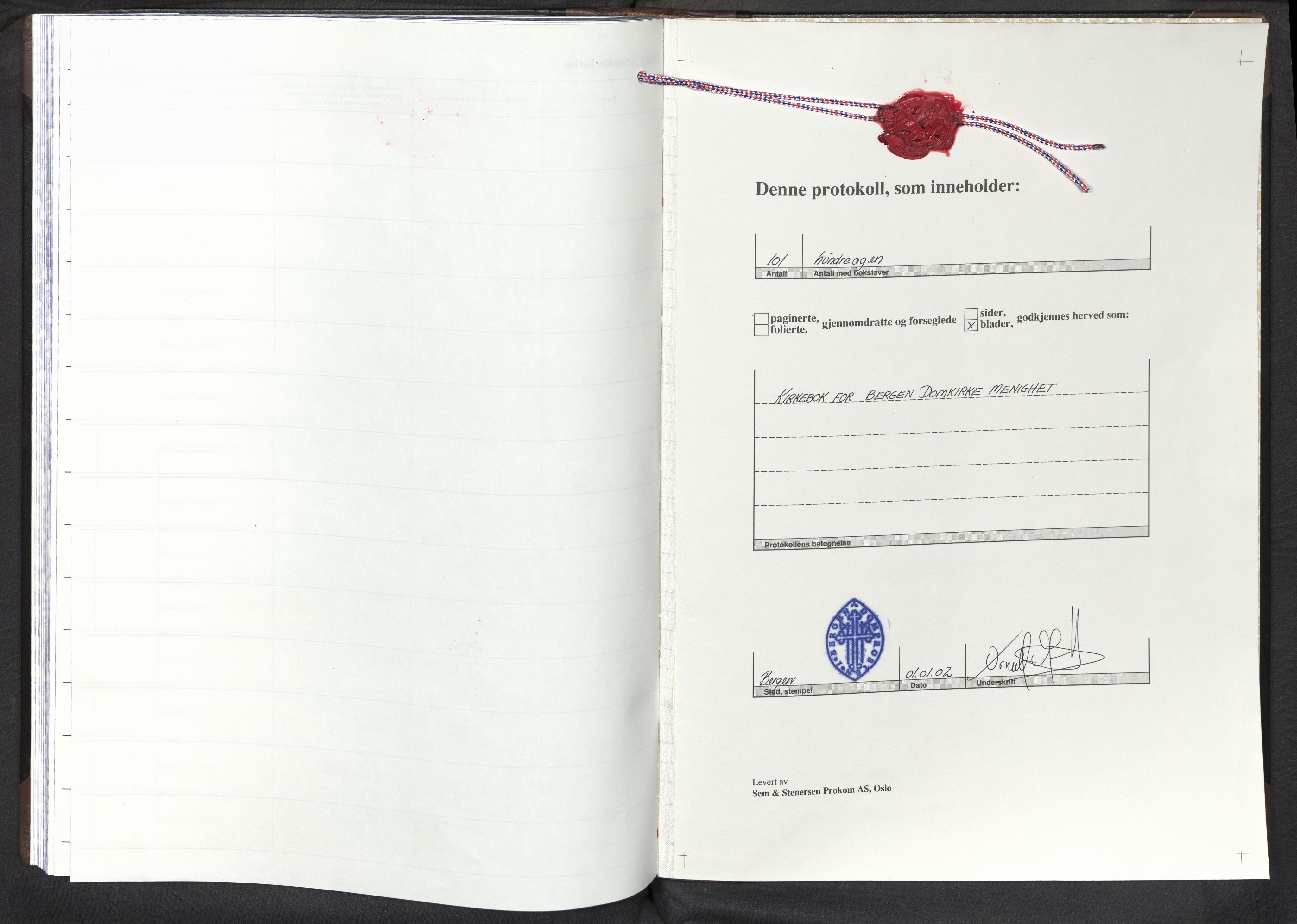 SAB, Domkirken Sokneprestembete, H/Haa: Parish register (official) no. E 1, 2002-2011