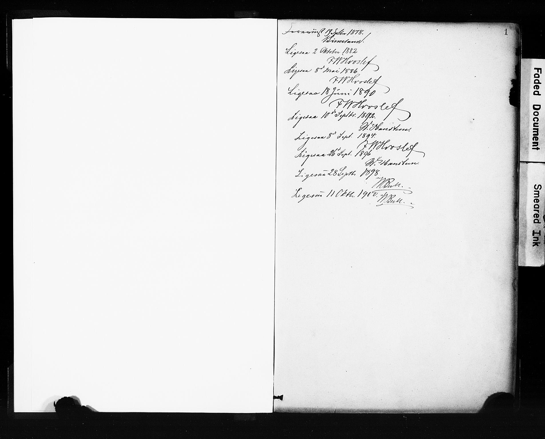 SAB, Evanger sokneprestembete*, Parish register (official) no. A 1, 1877-1899, p. 1