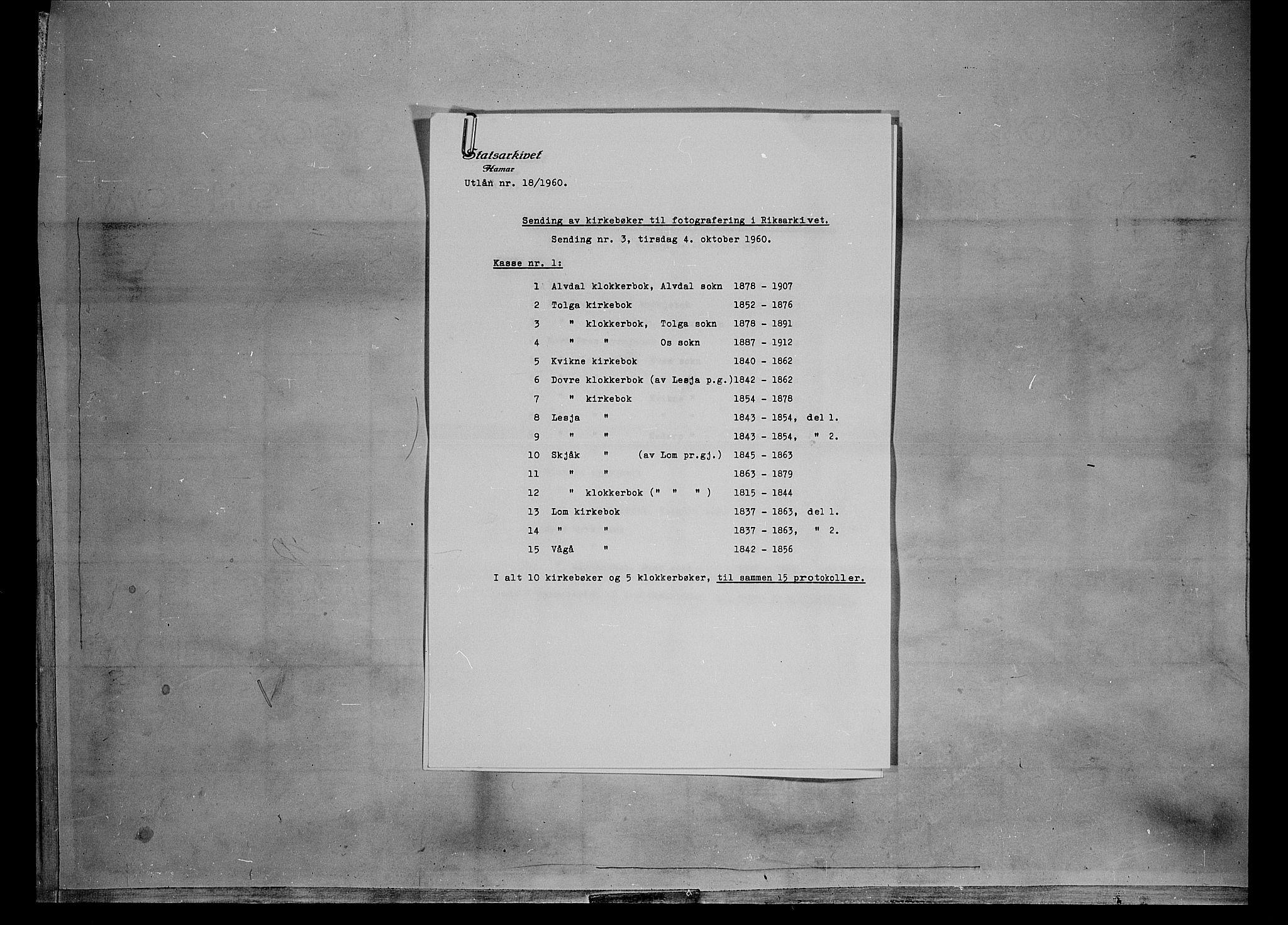 SAH, Lesja prestekontor, Parish register (official) no. 6B, 1843-1854