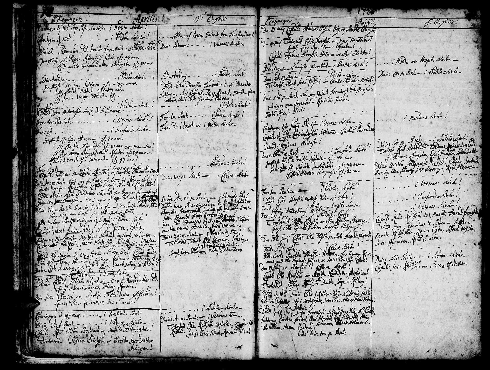 SAT, Ministerialprotokoller, klokkerbøker og fødselsregistre - Møre og Romsdal, 547/L0599: Parish register (official) no. 547A01, 1721-1764, p. 72-73