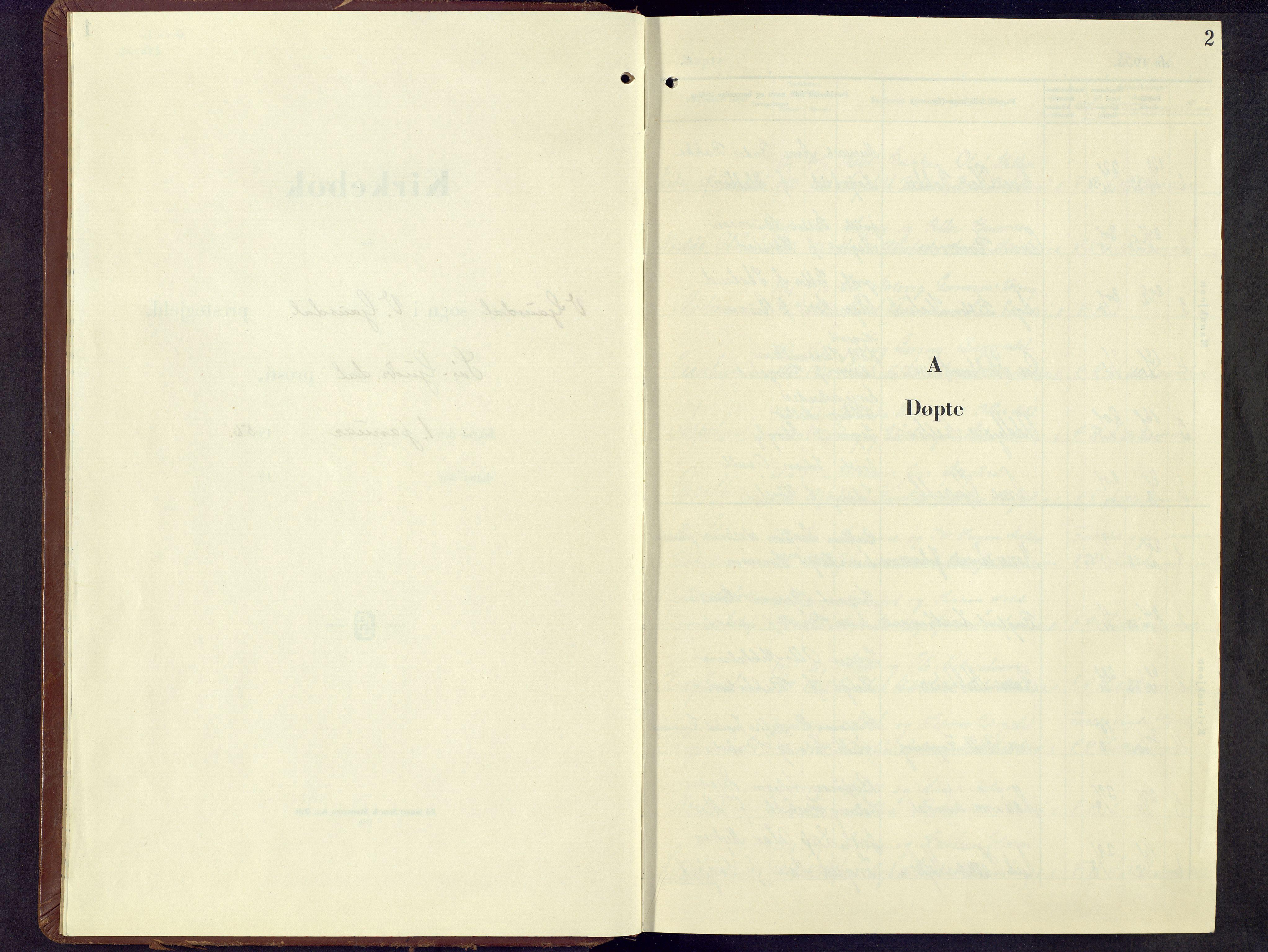 SAH, Vestre Gausdal prestekontor, Parish register (copy) no. 7, 1955-1977, p. 2